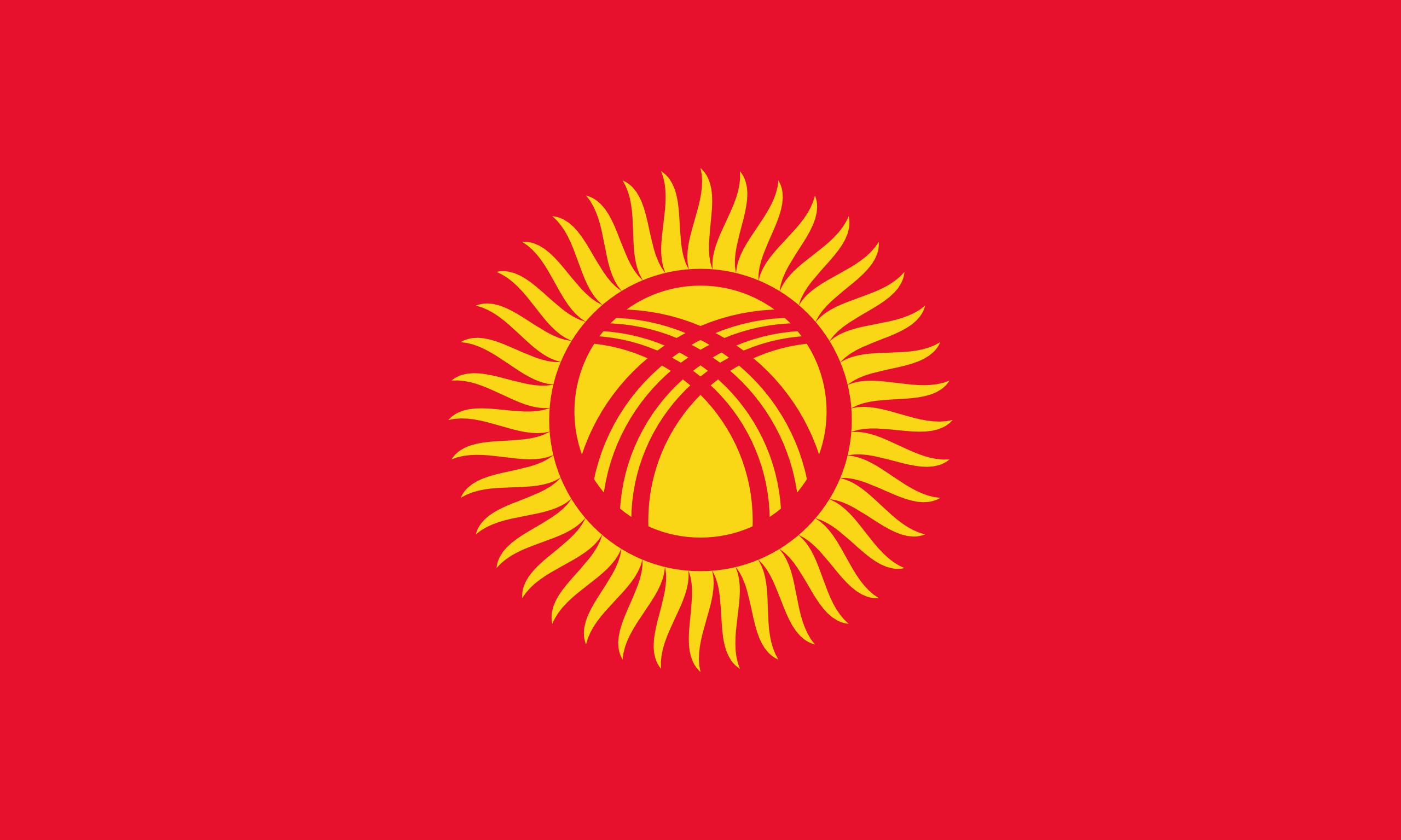 Quirguistão, país, Brasão de armas, logotipo, símbolo - Papéis de parede HD - Professor-falken.com