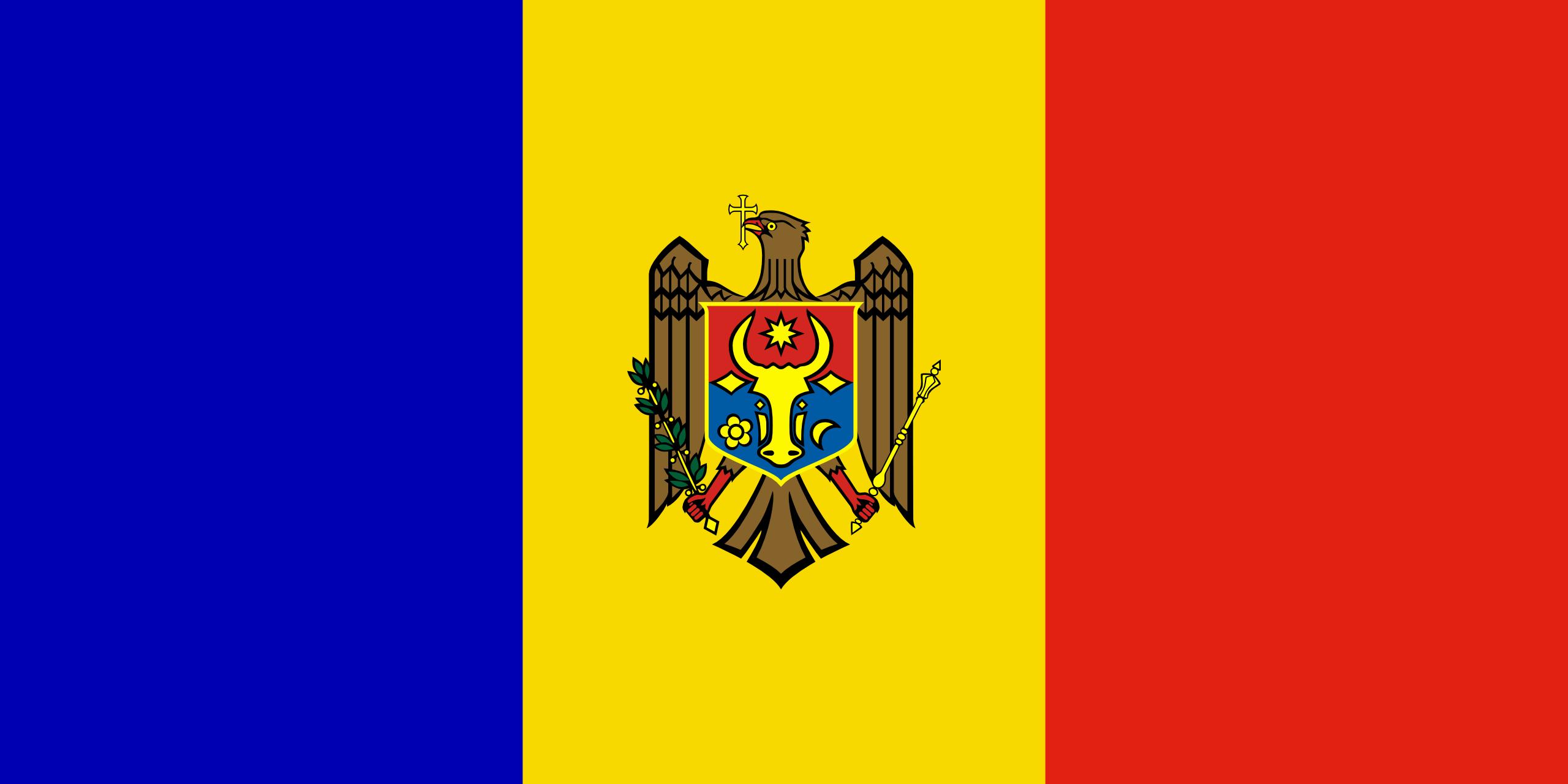 Молдова, страна, Эмблема, логотип, символ - Обои HD - Профессор falken.com