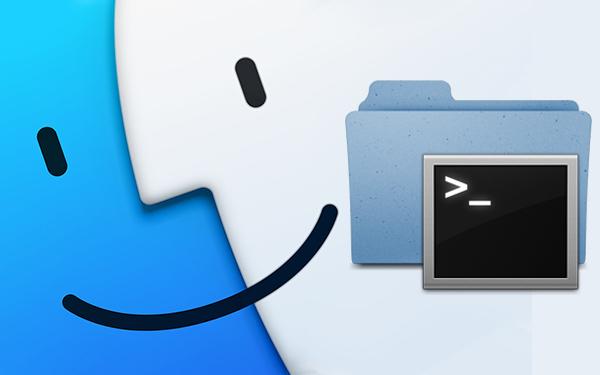 Как открыть окно терминала из любой папки на вашем Mac окружающей среды графике
