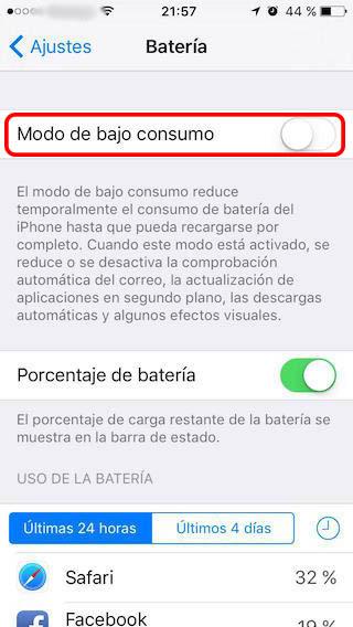 Como ativar o modo de baixa potência, para poupar energia da bateria, em seu iPhone - Imagem 2 - Professor-falken.com