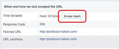 Come pulire o aggiornare la cache da un URL che hai già condiviso su Facebook - Immagine 3 - Professor-falken.com
