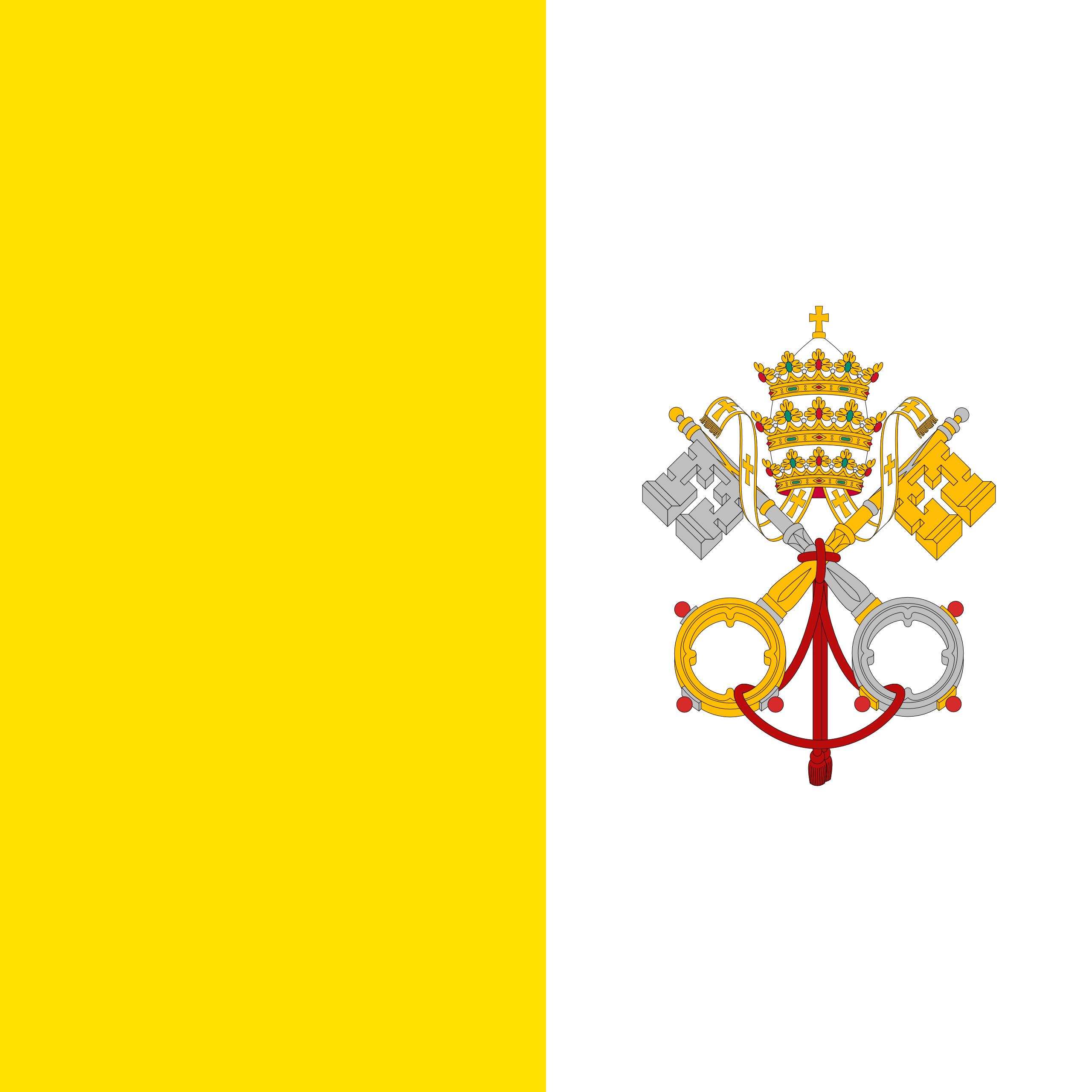 Cidade do Vaticano, país, Brasão de armas, logotipo, símbolo - Papéis de parede HD - Professor-falken.com