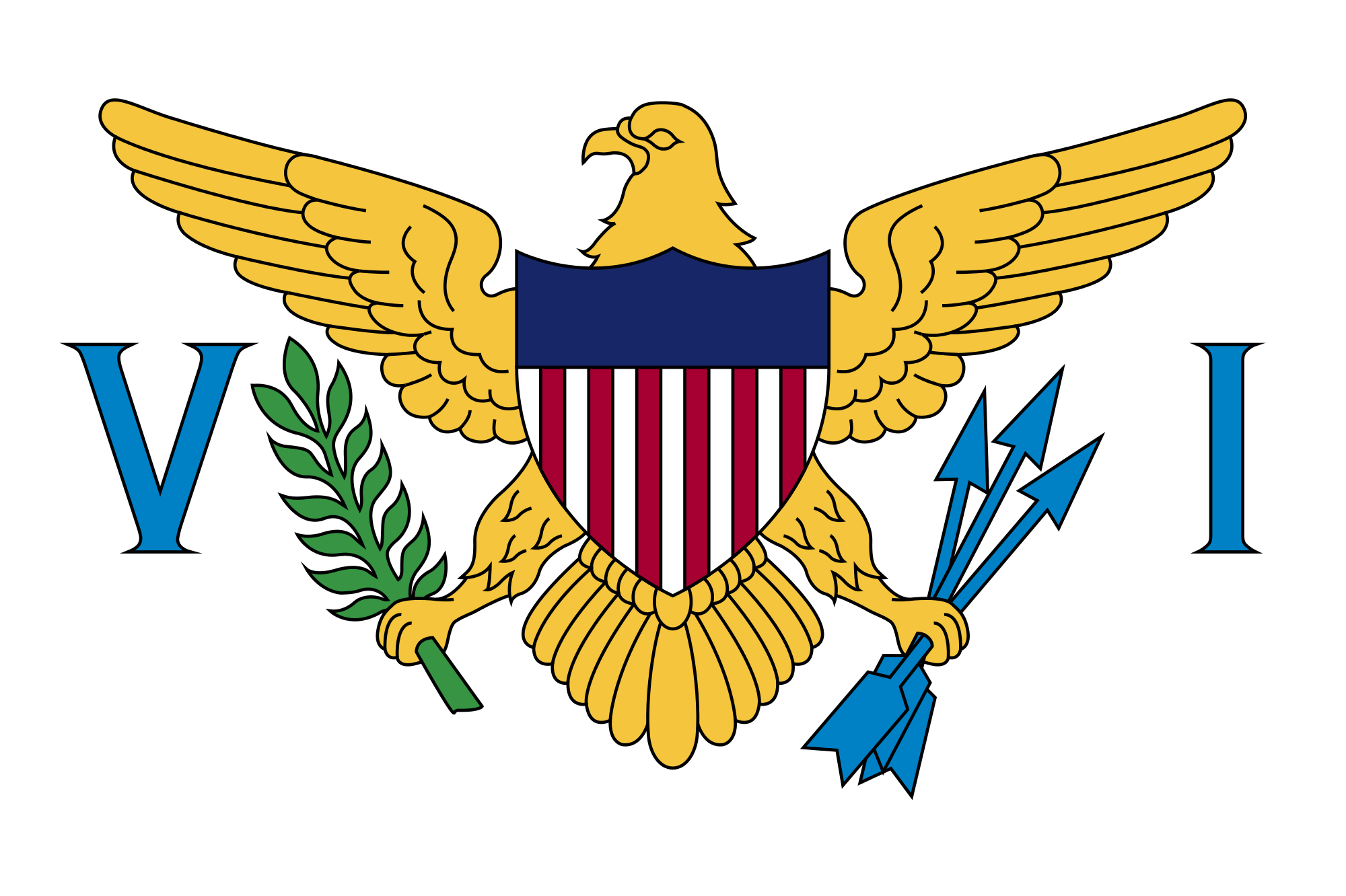 islas virgenes estadounidenses, 国, エンブレム, ロゴ, シンボル - HD の壁紙 - 教授-falken.com