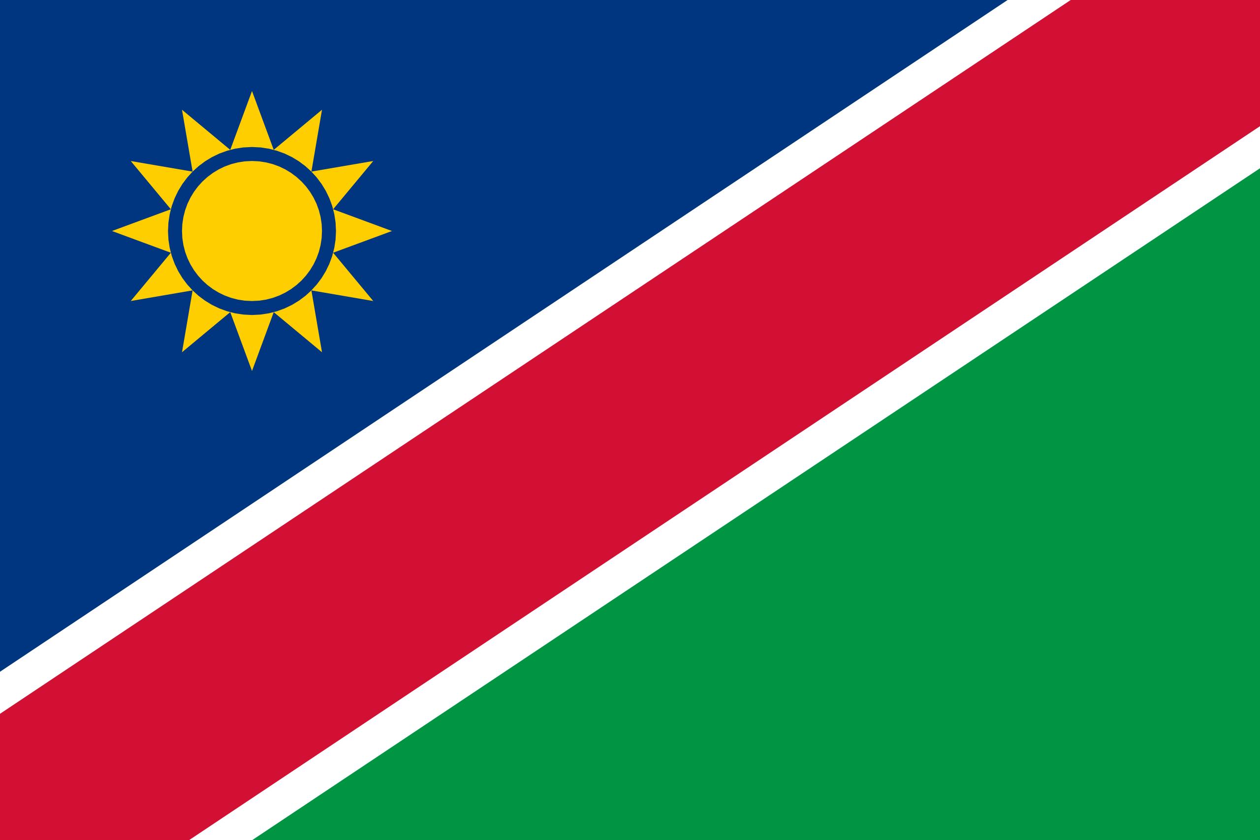 Namibie, pays, emblème, logo, symbole - Fonds d'écran HD - Professor-falken.com
