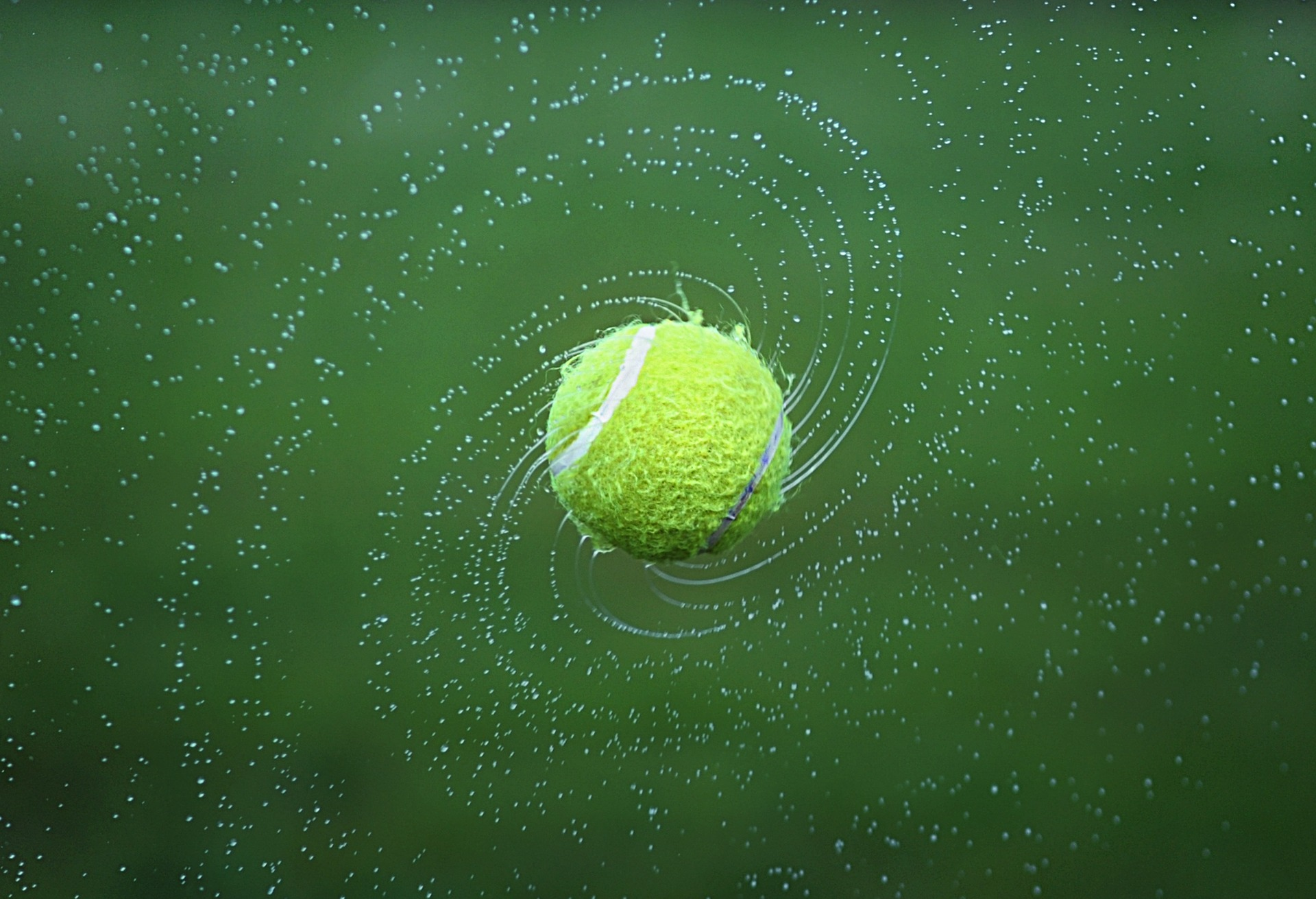 Tennisball, Kugel, Tennis, Wasser, Giro, Grün - Wallpaper - Prof.-falken.com