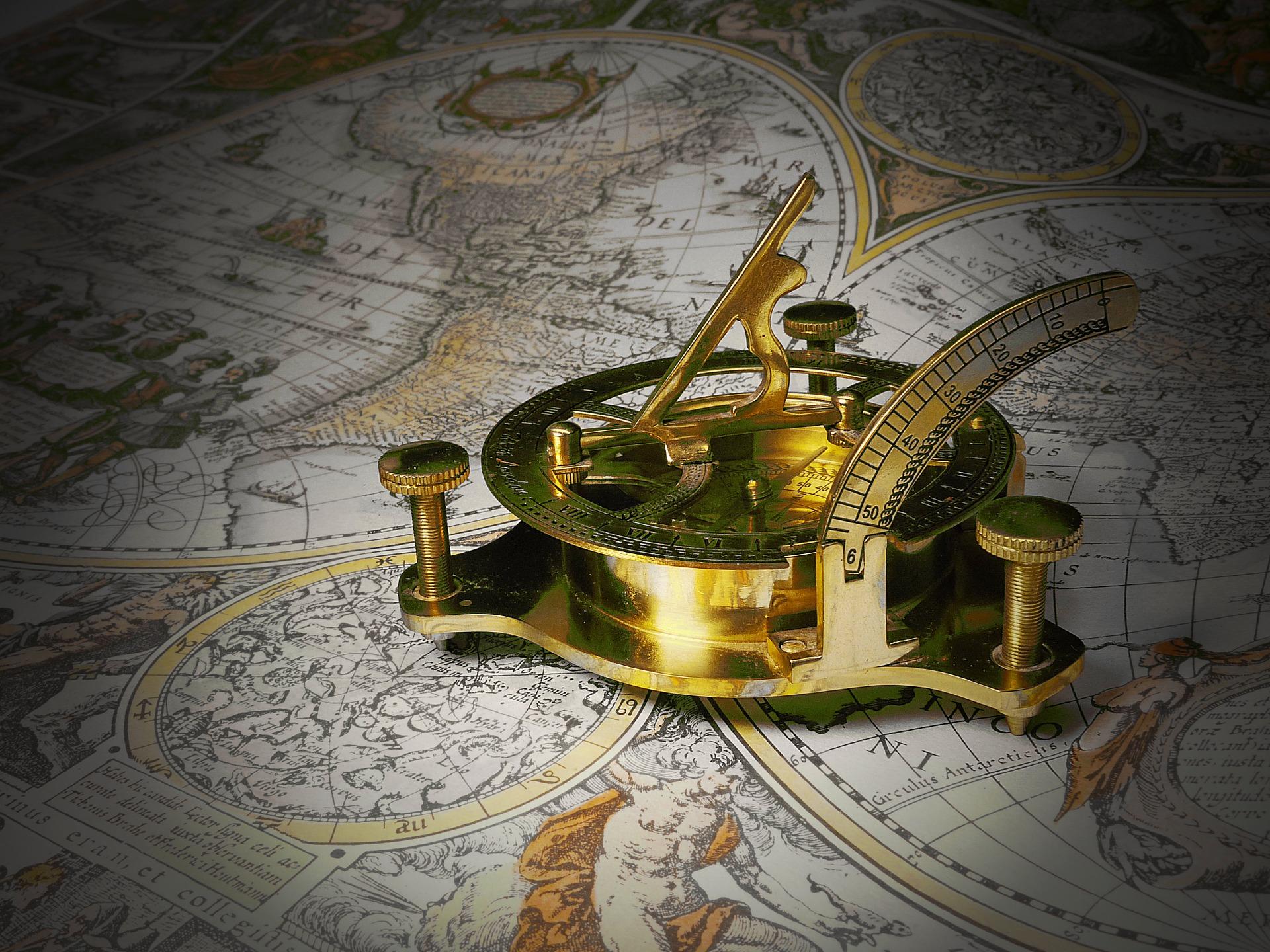 Relógio, Relógio de sol, calibre, mapa, Geografia, Dorado - Papéis de parede HD - Professor-falken.com