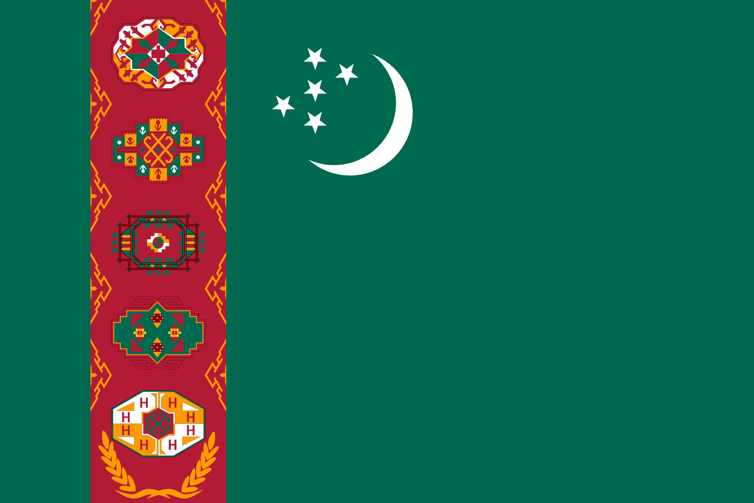turkmenistán, Land, Emblem, Logo, Symbol - Wallpaper HD - Prof.-falken.com