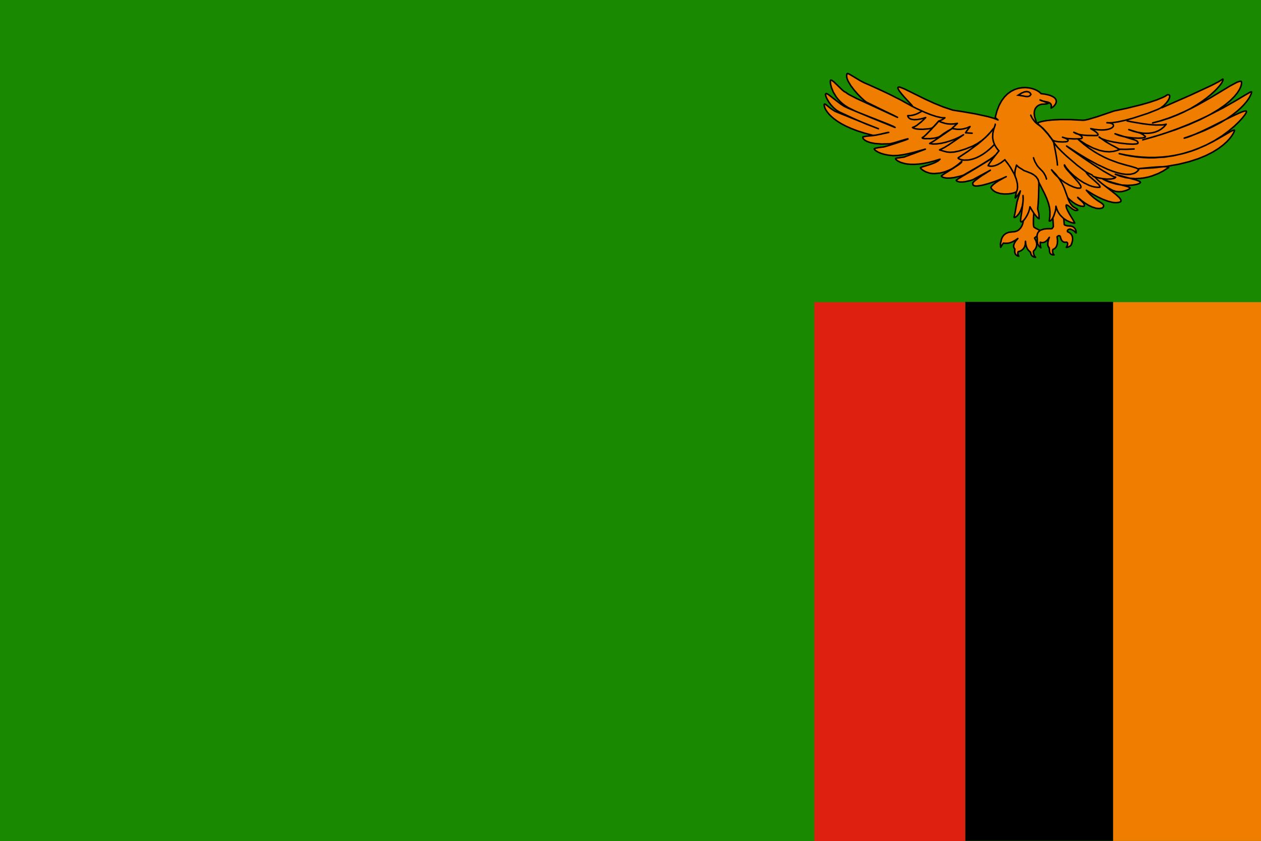 Zambie, pays, emblème, logo, symbole - Fonds d'écran HD - Professor-falken.com