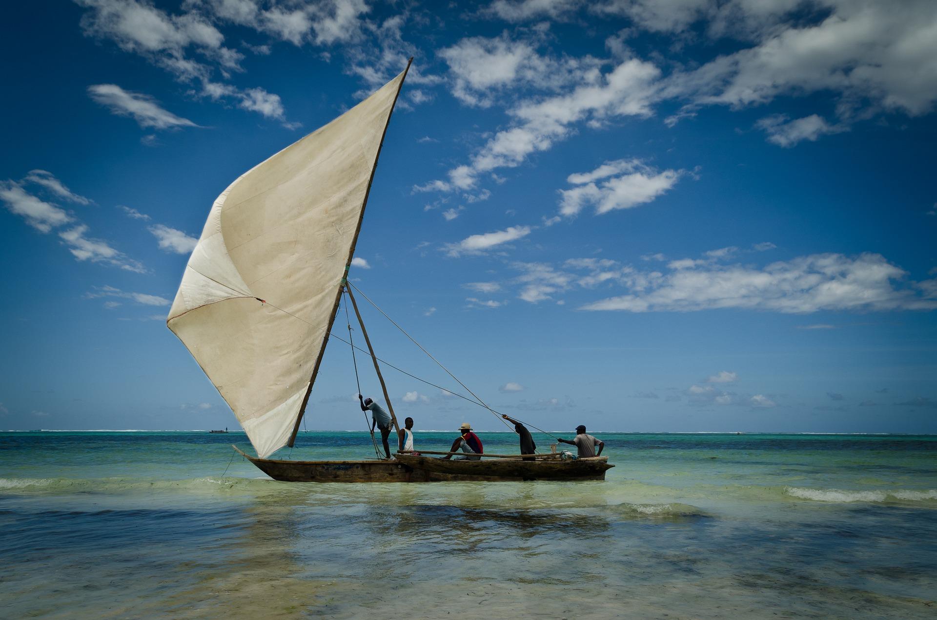 桑给巴尔岛, 小船, 蜡烛, 海, 天空, 放松, 导航, 蓝色 - 高清壁纸 - 教授-falken.com