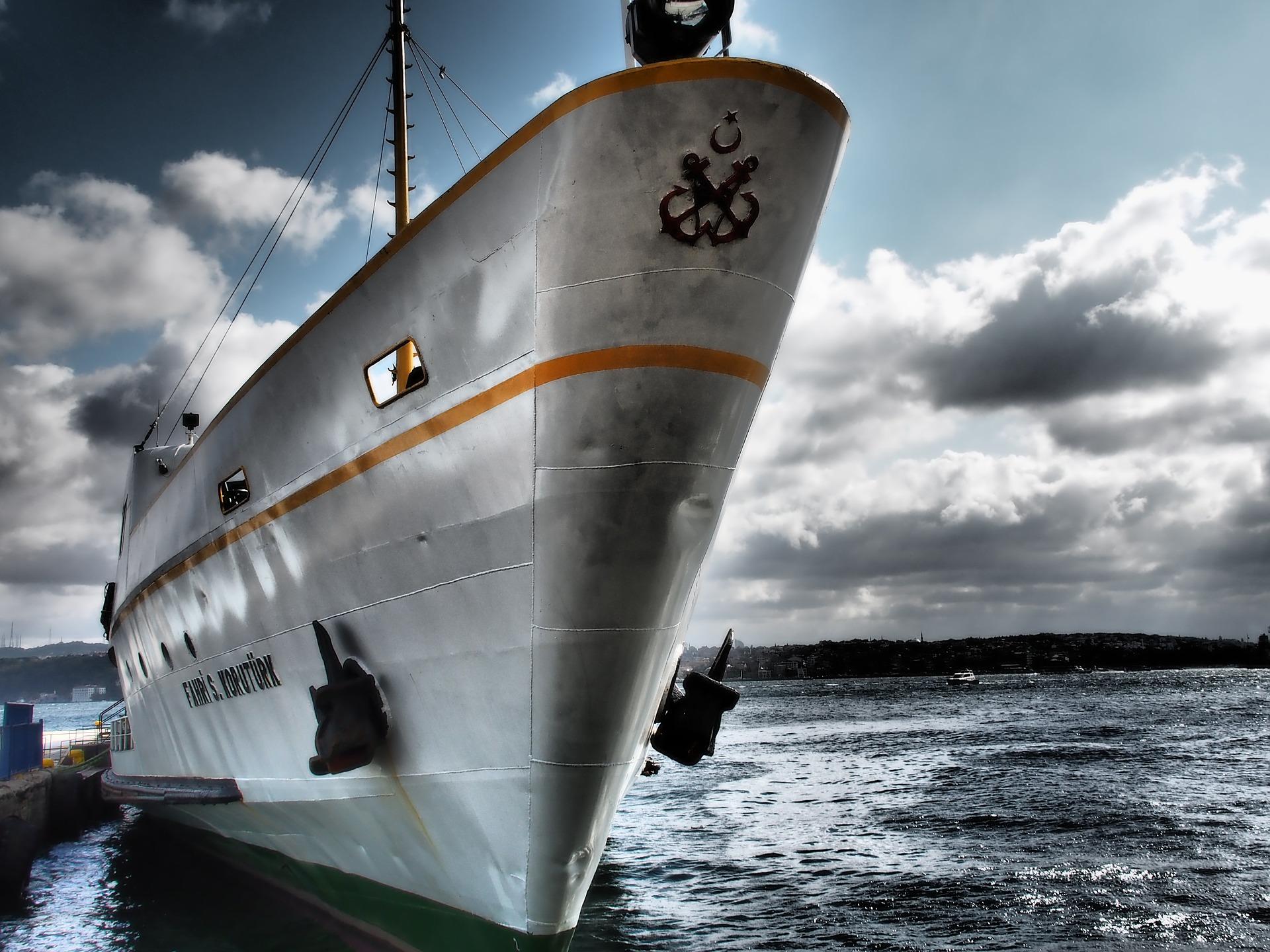bateau, navire, Ferry, Mer, ancre, Sky, nuages - Fonds d'écran HD - Professor-falken.com