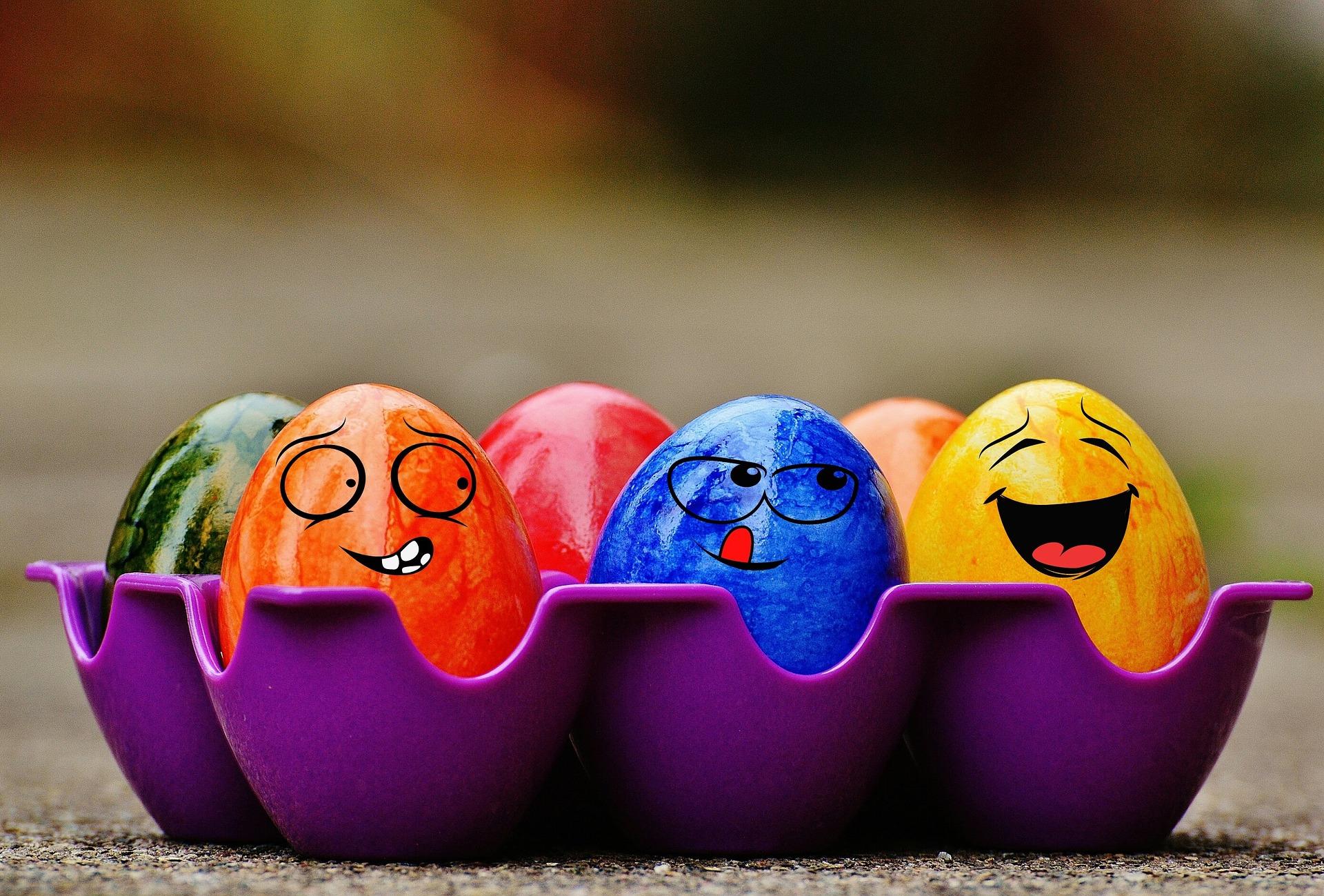 Ovos de Páscoa, Páscoa, ovos, cores, rostos - Papéis de parede HD - Professor-falken.com