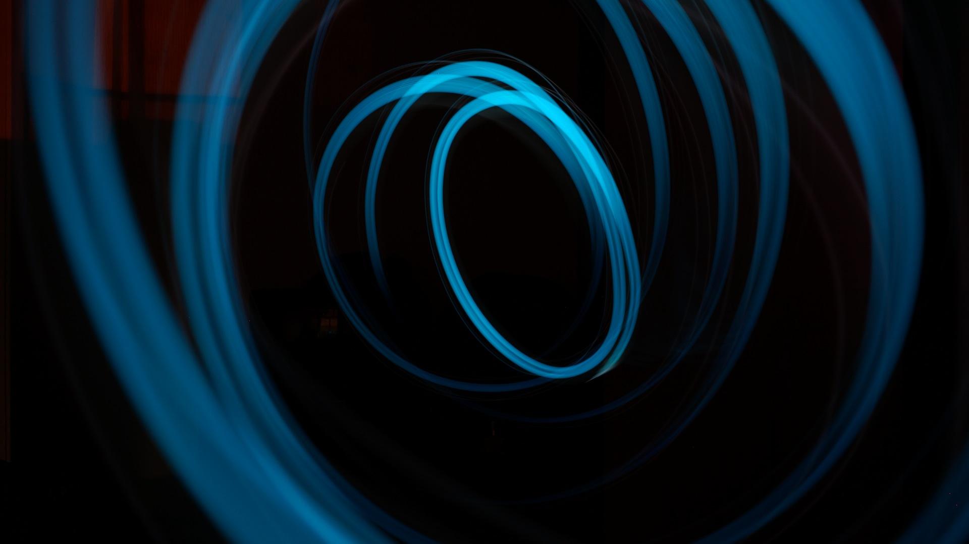 Lichter, Dunkelheit, Linien, Kunst, Blau - Wallpaper HD - Prof.-falken.com