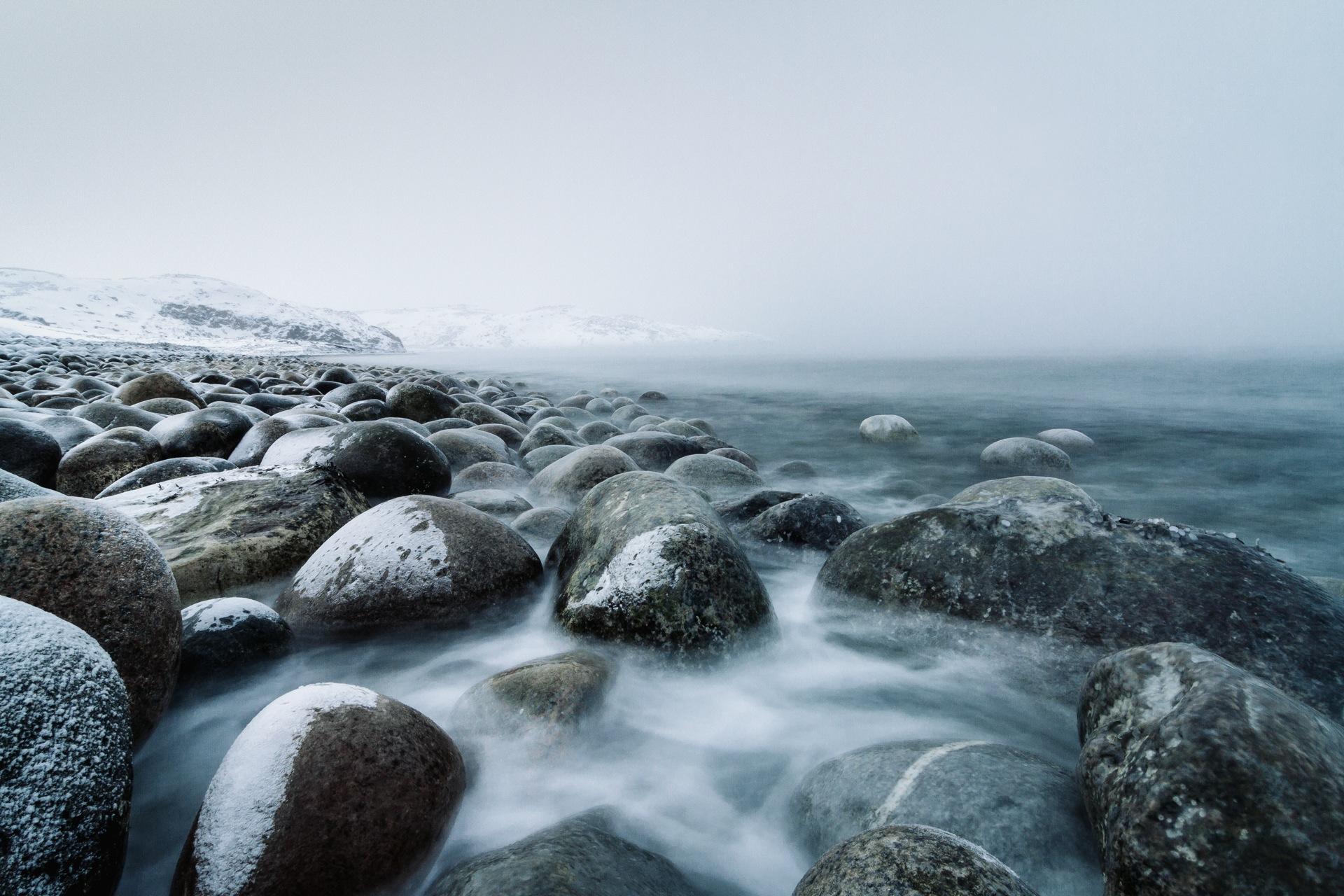 nevoeiro, pedras, frio, neve, nuvens, água, Papéis de parede HD - Professor-falken.com