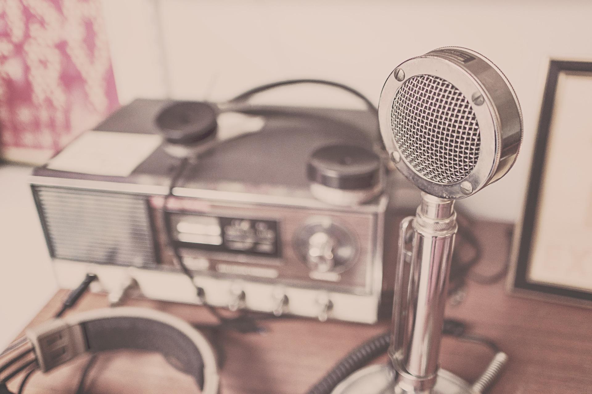 电台, 麦克风, 演讲者, 声音, 音频, 年份, 老 - 高清壁纸 - 教授-falken.com