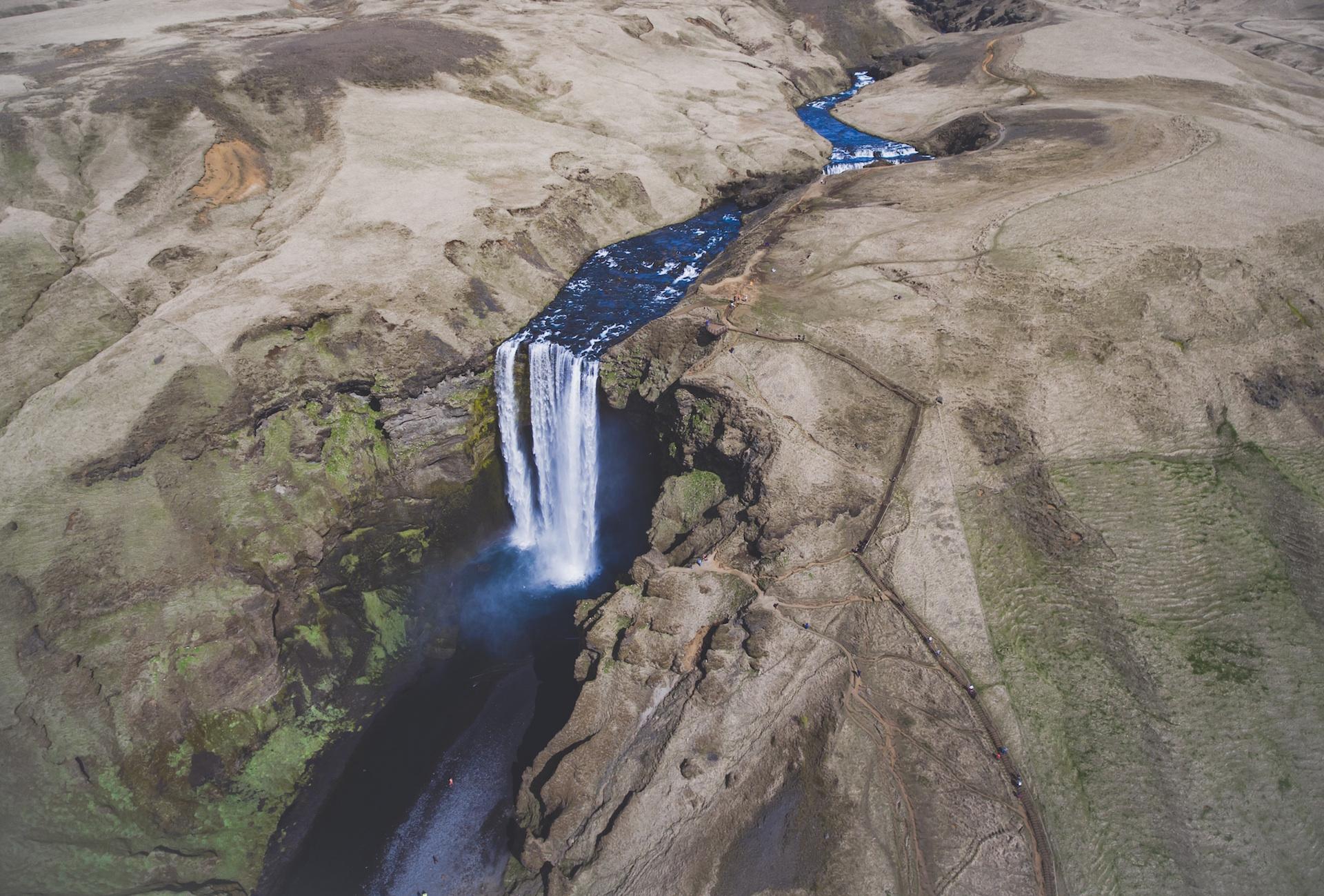 Ποταμός, catarata, Καταρράκτης, νερό, Ισλανδία - Wallpapers HD - Professor-falken.com