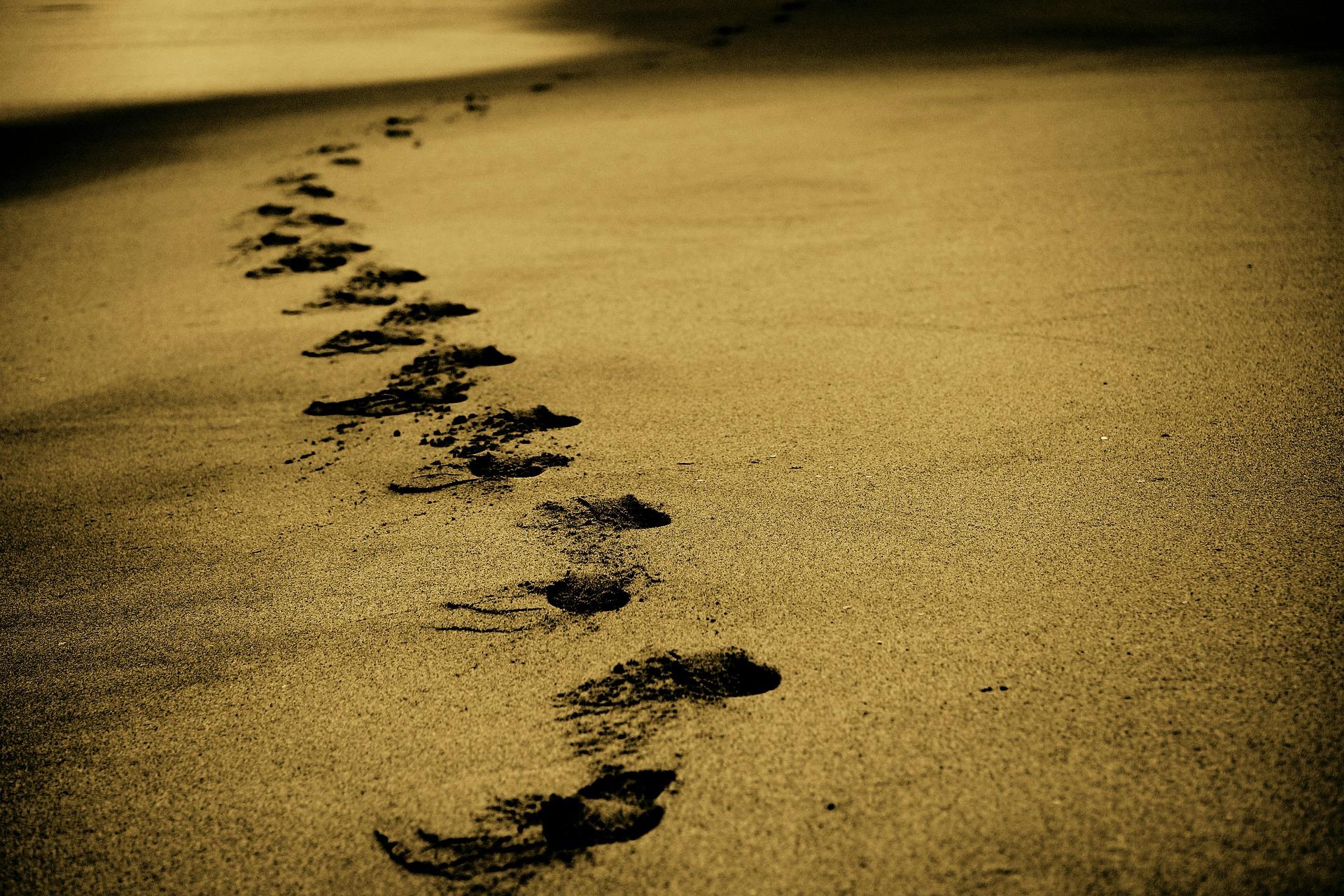 песок, стопам, Пляж, Дорога, этаж - Обои HD - Профессор falken.com