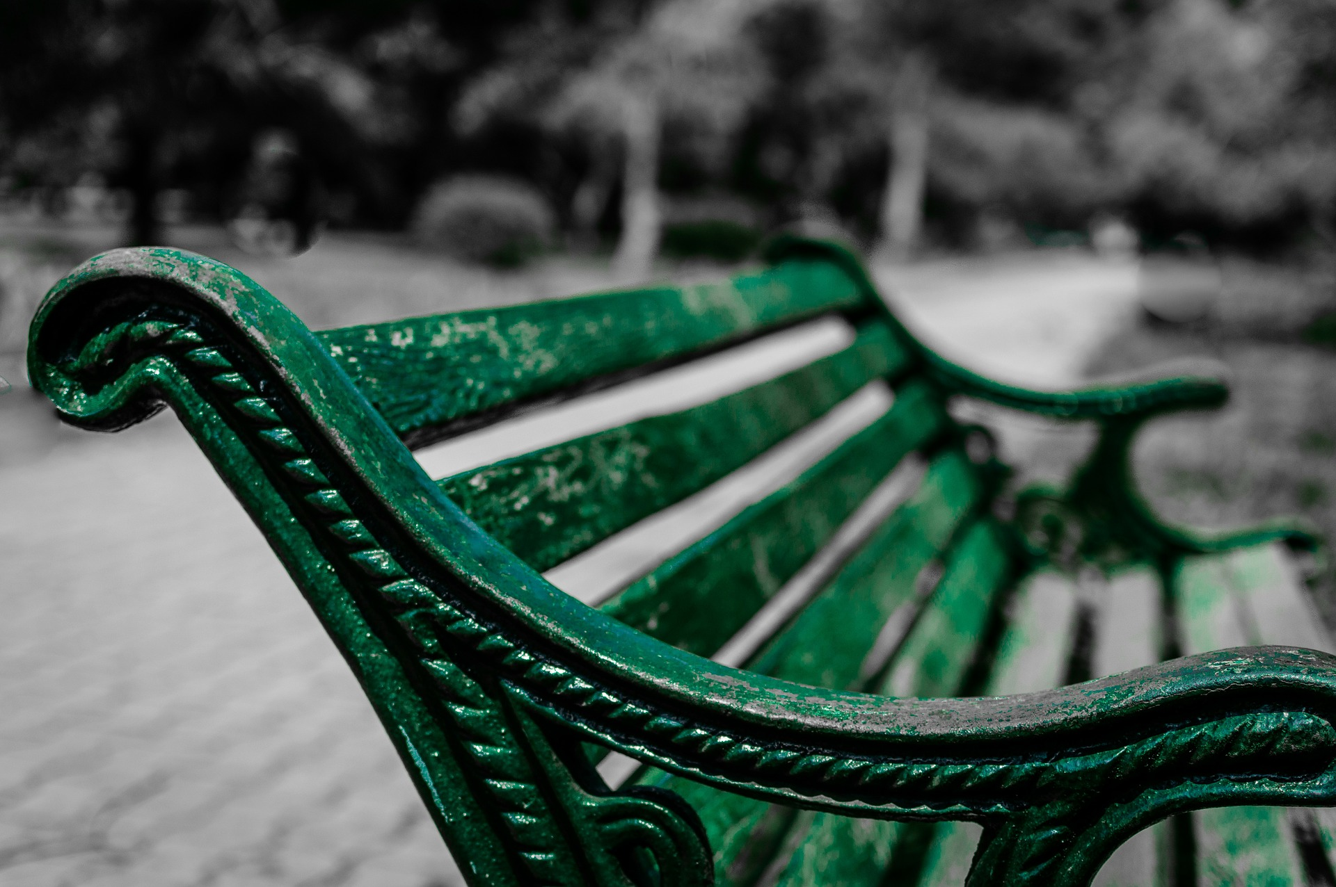 Banque, Parc, siège, reste, tranquilité, se détendre - Fonds d'écran HD - Professor-falken.com