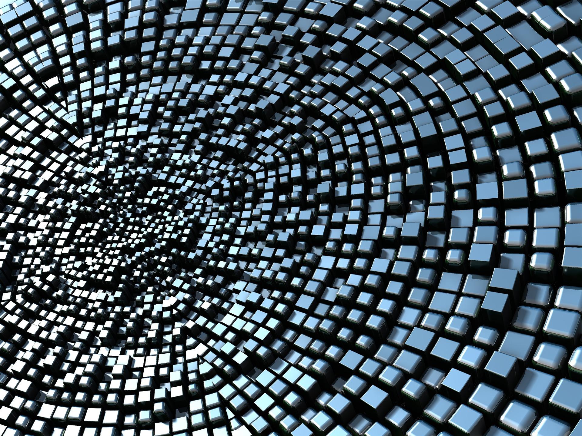 Blöcke, metallische, Metall, Chaos, Glanzgraden - Wallpaper HD - Prof.-falken.com