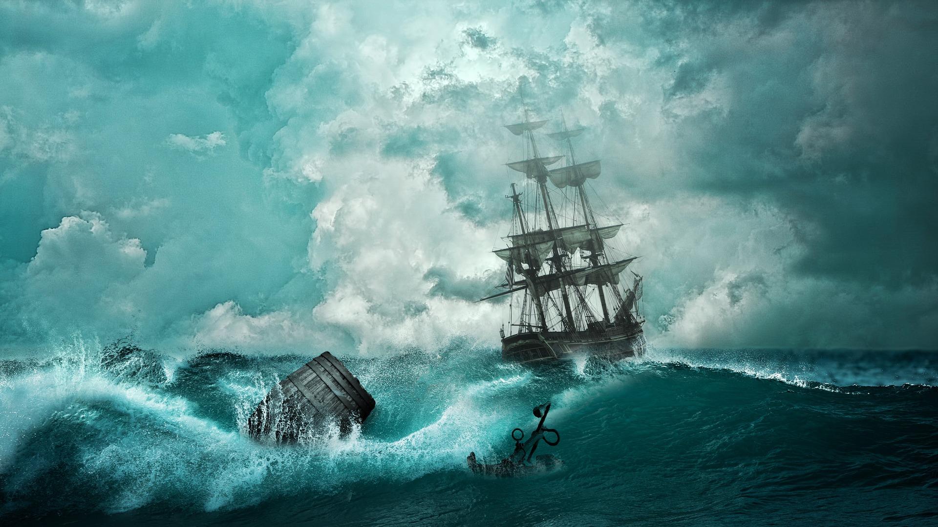 navire, Naufragio, bateau, Mer, Aventure, Tempest, ancre - Fonds d'écran HD - Professor-falken.com