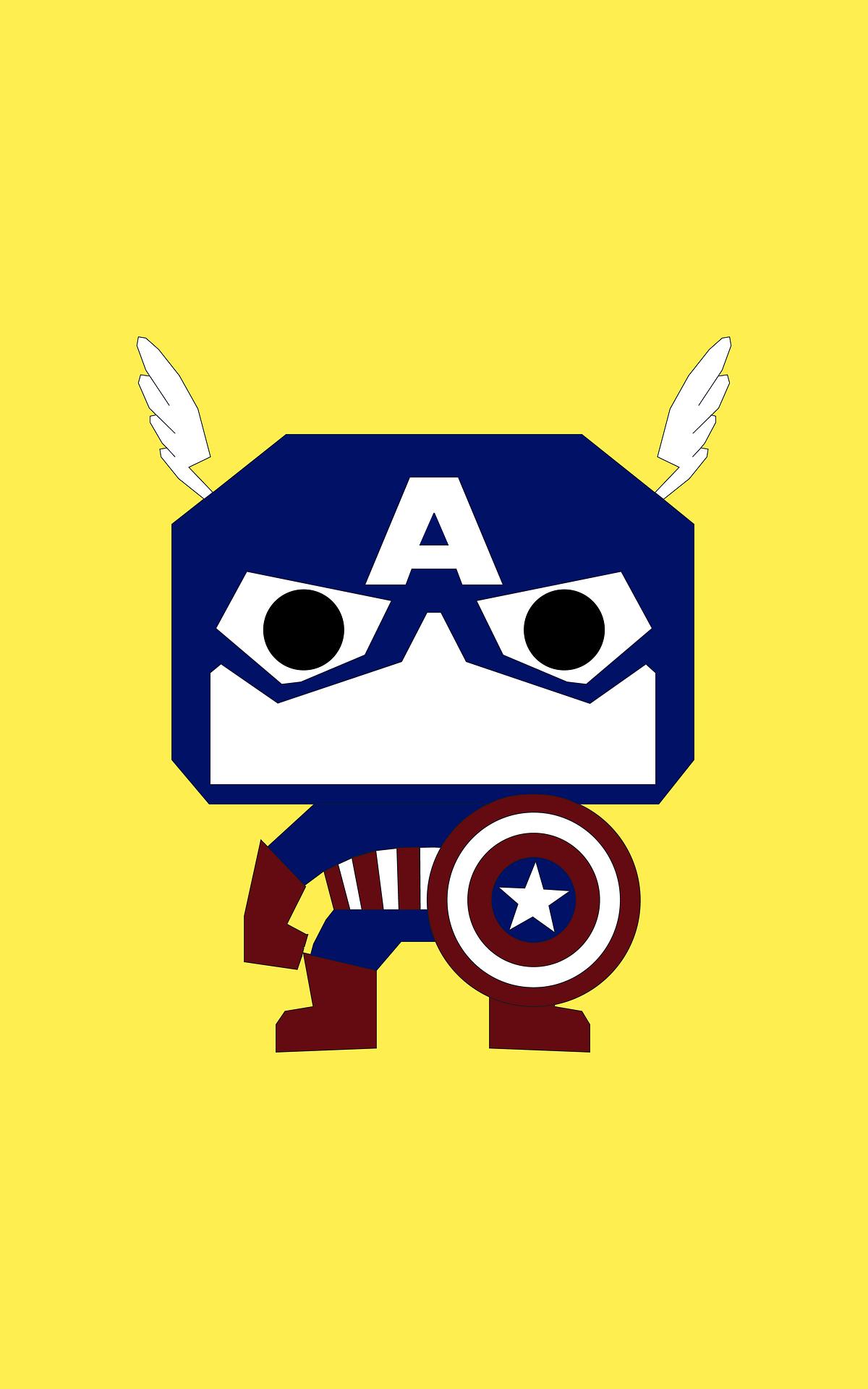capitán américa, superhéroe, marvel, ilustración, cómic - Fondos de Pantalla HD - professor-falken.com