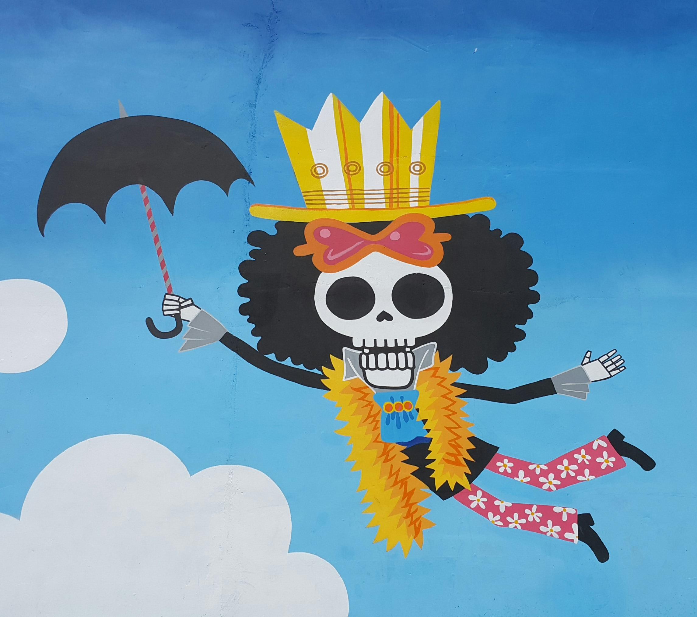 caravera, paraguas, hortera, payaso, volar - Fondos de Pantalla HD - professor-falken.com