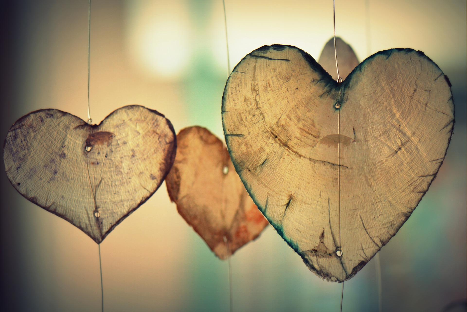 corazones, amor, colgantes, adornos, manualidades - Fondos de Pantalla HD - professor-falken.com