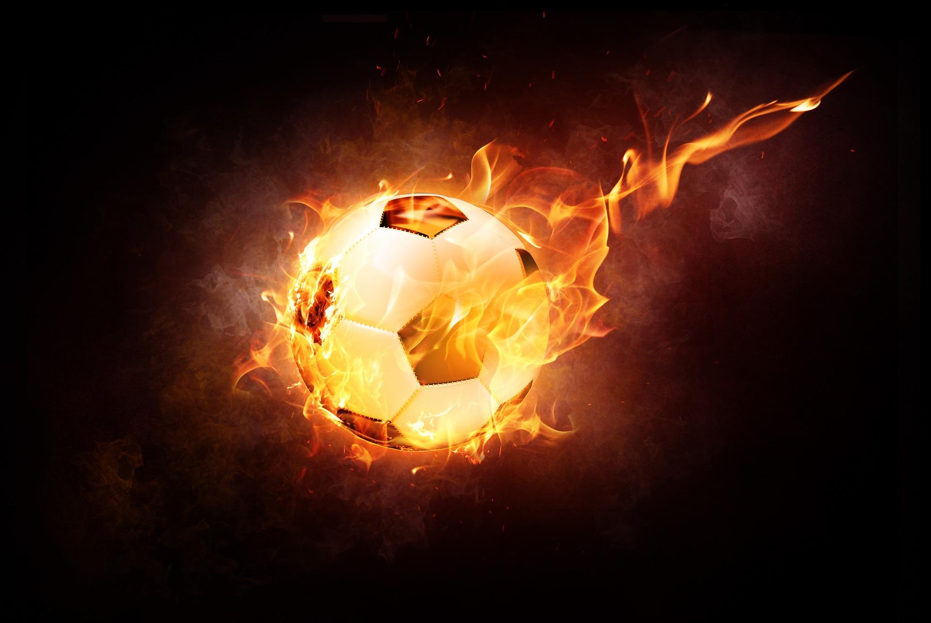 Football, ballon, feu, Tiro, flamme - Fonds d'écran HD - Professor-falken.com