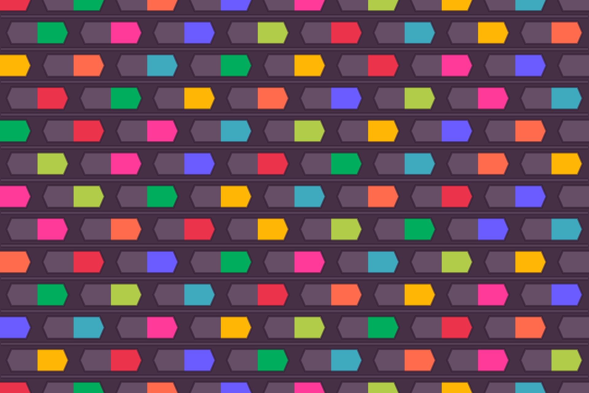 геометрия, цвета, геометрических, Синий, Жёлтый - Обои HD - Профессор falken.com
