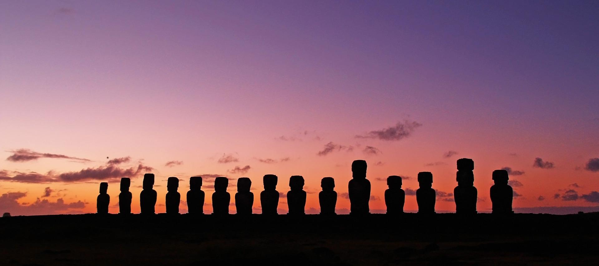 Isola di Pasqua, Rapa nui, sculture, Cielo, nuvole - Sfondi HD - Professor-falken.com