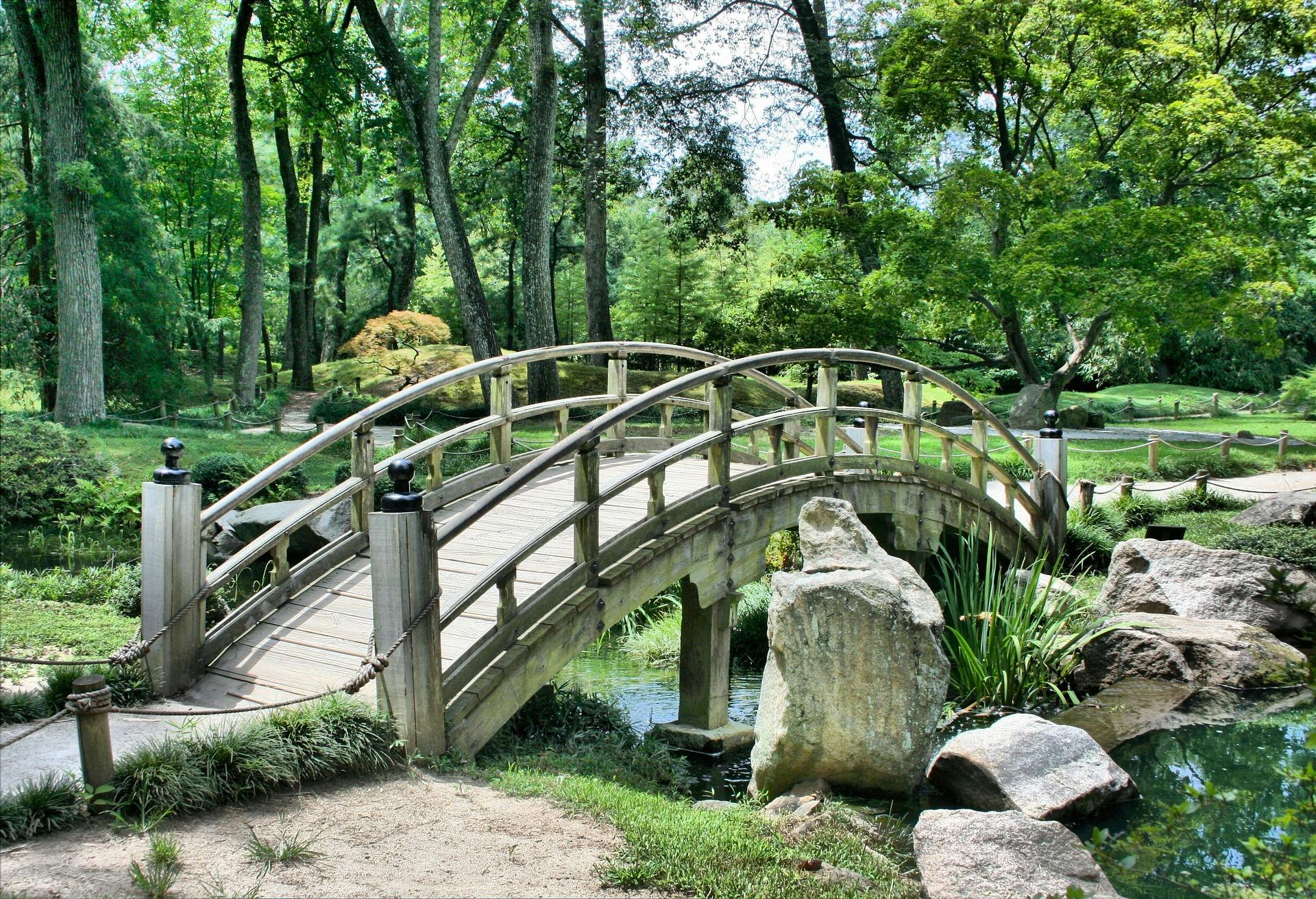 花园里的日本, 桥梁, 休息, 放松, 冥想 - 高清壁纸 - 教授-falken.com