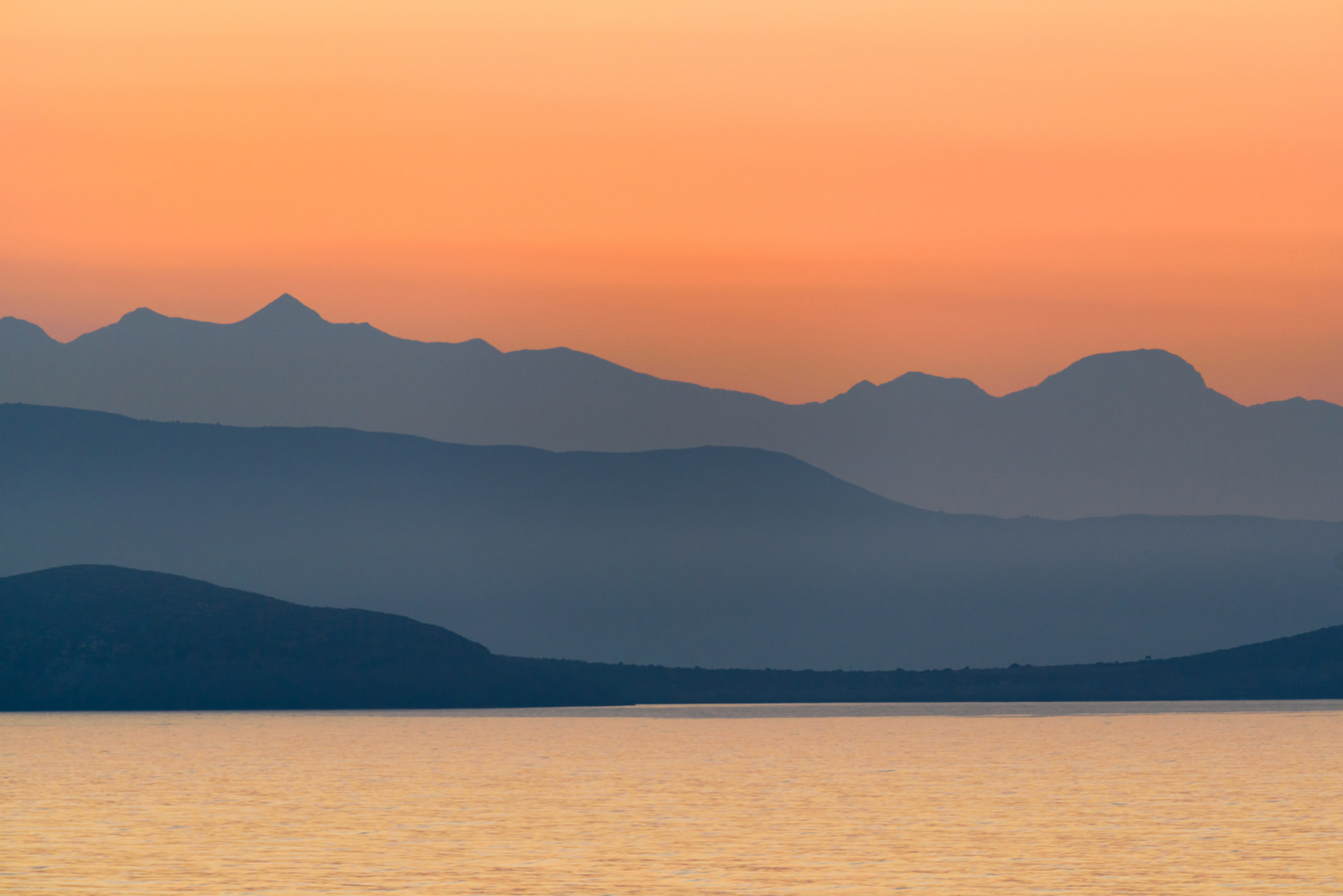 Mediterranean, Costa, Griechenland, Hügel, Berge, Sonnenuntergang - Wallpaper HD - Prof.-falken.com