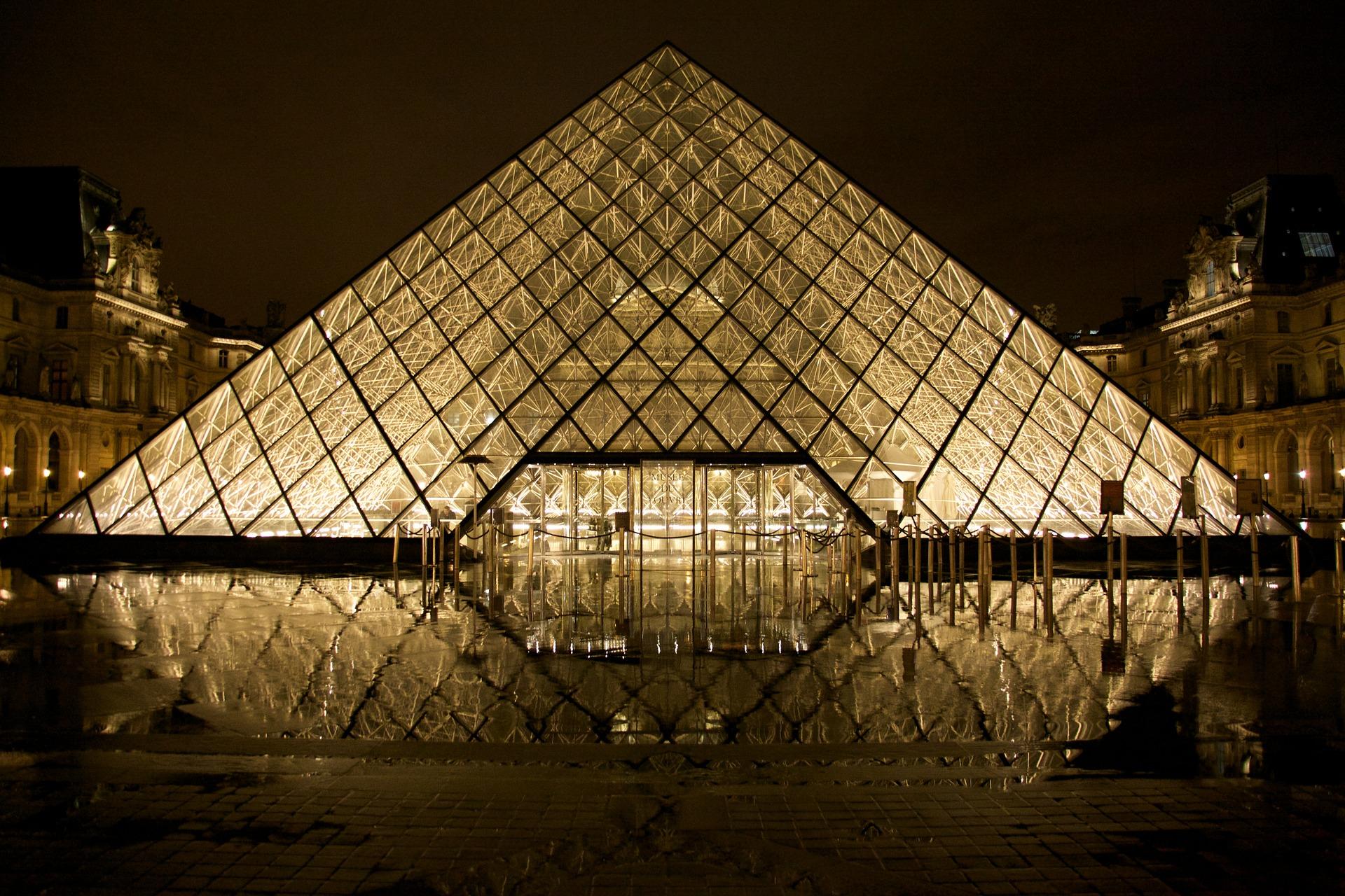博物館, ルーブル美術館, パリ, フランス, ピラミッド - HD の壁紙 - 教授-falken.com