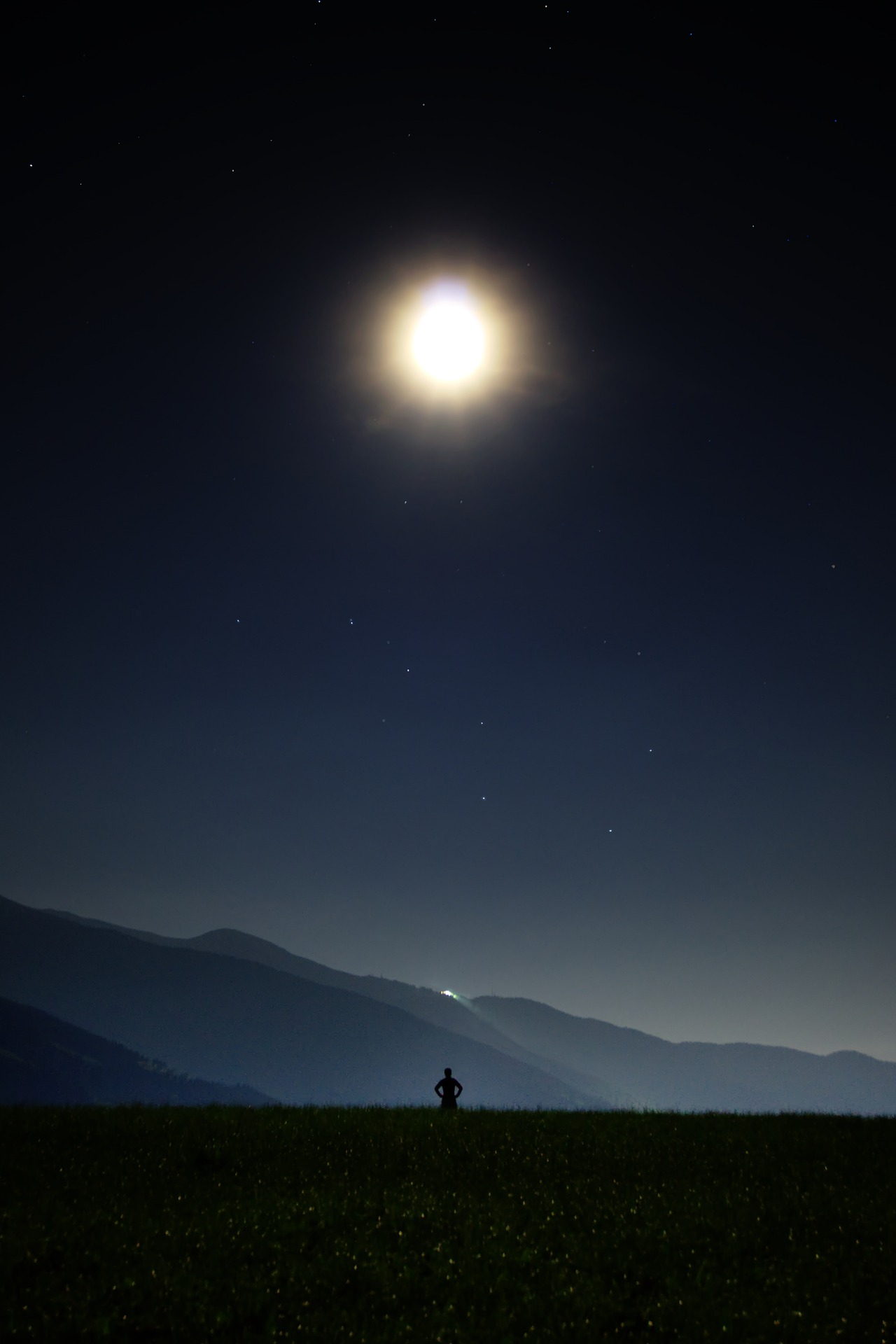 ليلة, القمر, نجمة, السماء, الظلام - خلفيات عالية الدقة - أستاذ falken.com