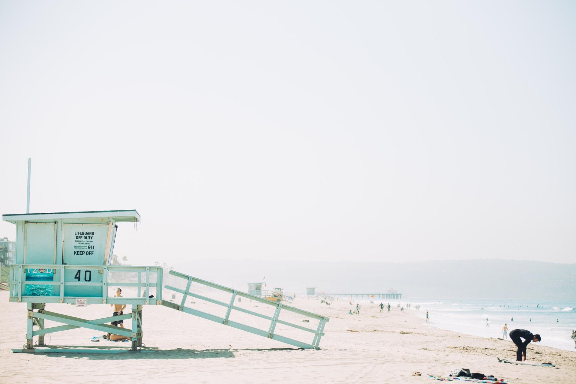 Spiaggia, sabbia, Guardiano, Torre, Bagnino, Mare - Sfondi HD - Professor-falken.com