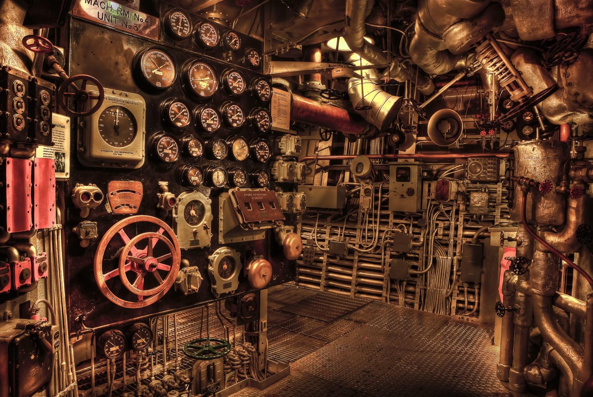 sala de máquinas, válvulas, engranajes, llaves, máquina - Fondo de Pantalla HD - professor-falken.com