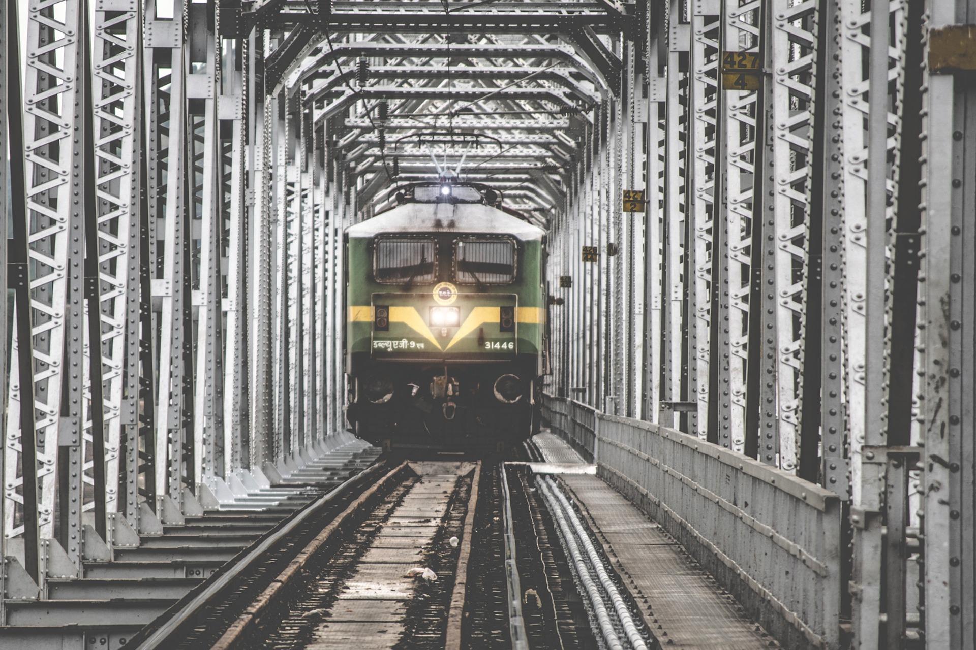 treno, Ponte, ferrovia, India, movimento - Sfondi HD - Professor-falken.com