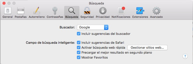 Cómo desactivar las sugerencias del buscador Safari en OS X - Image 3 - professor-falken.com