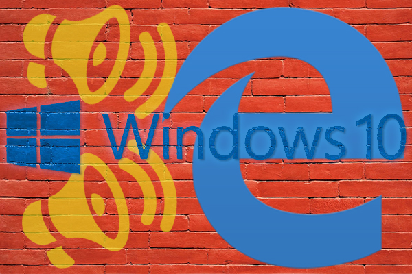 Como desativar o navegador da web Microsoft Edge sobre as notificações do Windows 10
