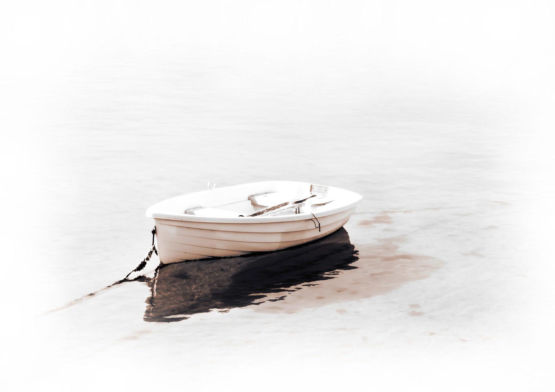 नाव, Barca, झील, प्रतिबिंब, सफेद - HD वॉलपेपर - प्रोफेसर-falken.com