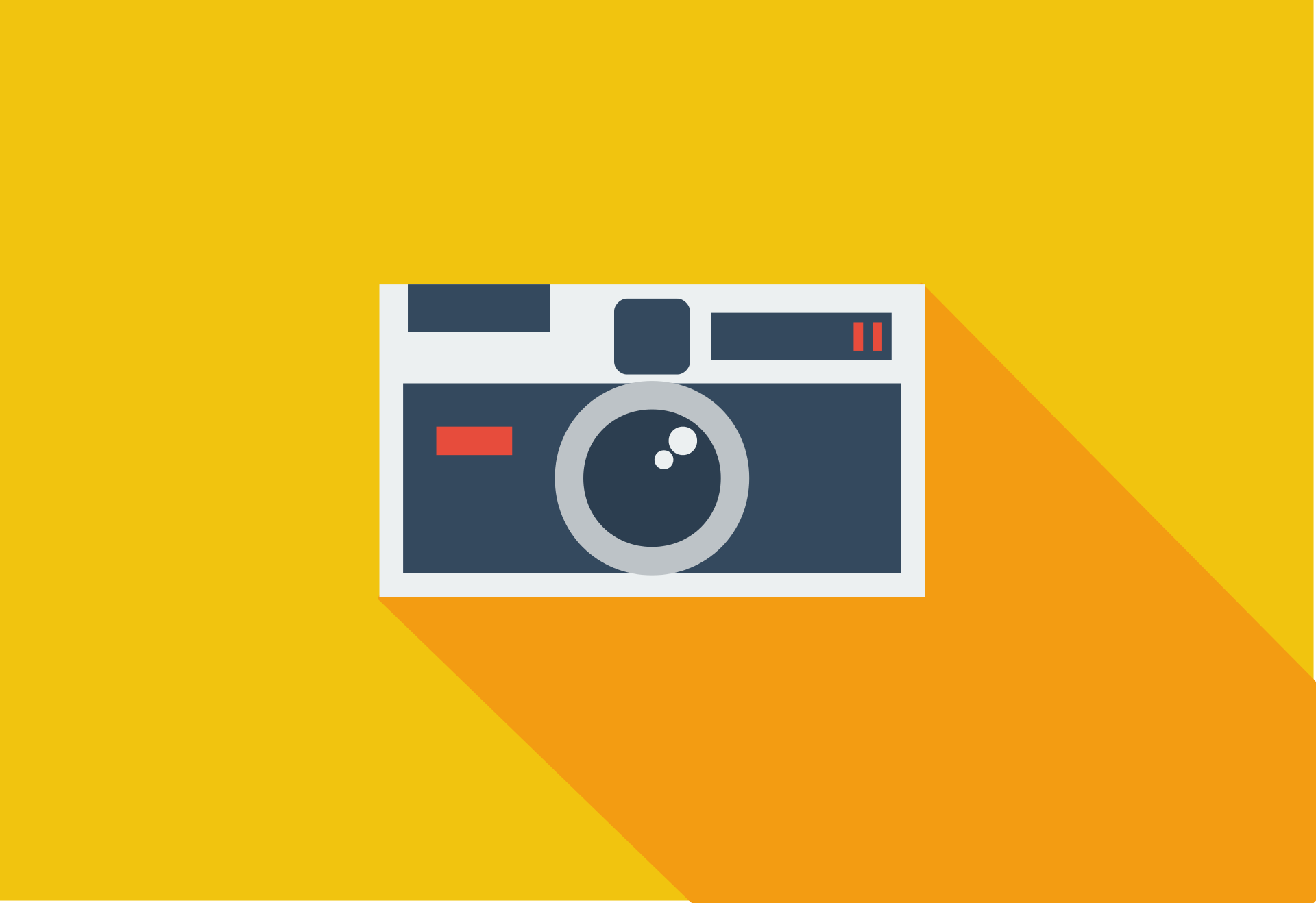 appareil photo, photographie, flat design, design plat, Jaune - Fonds d'écran HD - Professor-falken.com