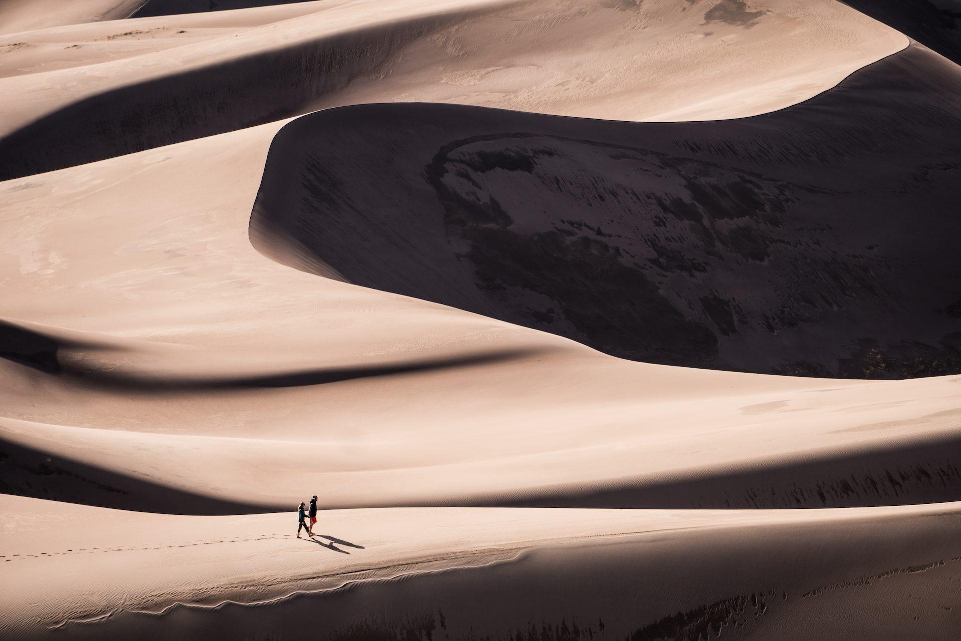 έρημο, Άμμος, ζευγάρι, θίνες, Soledad - Wallpapers HD - Professor-falken.com