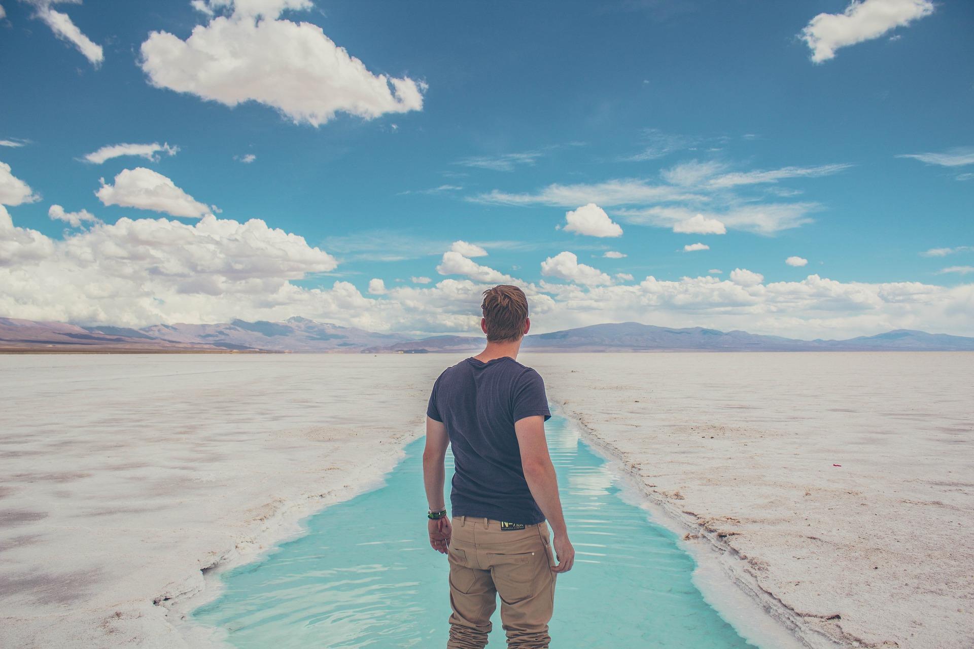 रेगिस्तान, सेलिनास, आदमी, बादल, आकाश - HD वॉलपेपर - प्रोफेसर-falken.com