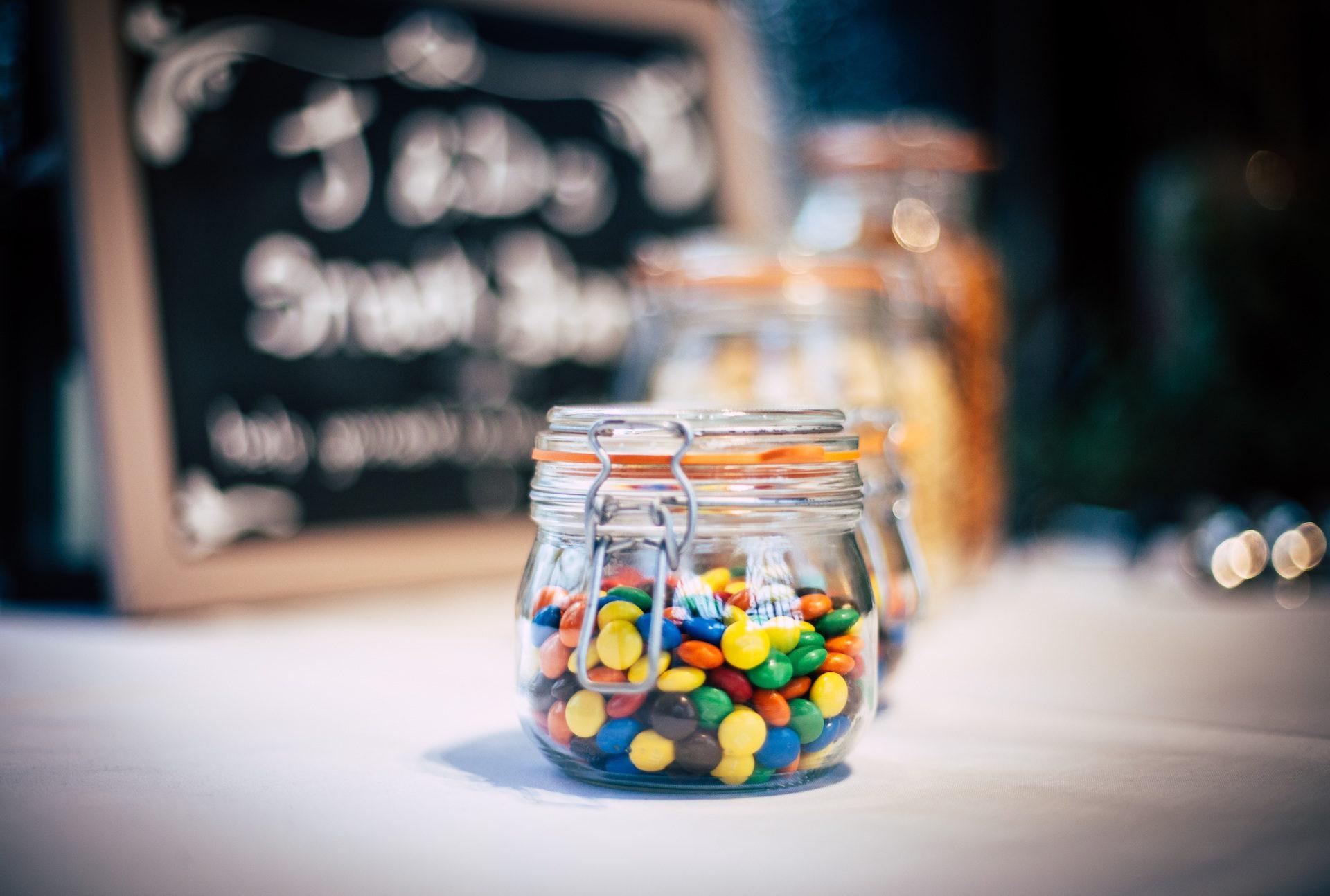 甜, caramelos, 糖果, 罐子里, 多彩 - 高清壁纸 - 教授-falken.com