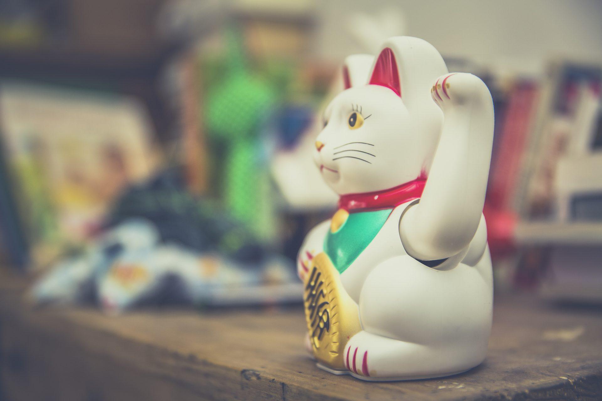 gato, chino, suerte, destino, blanco - Fondos de Pantalla HD - professor-falken.com
