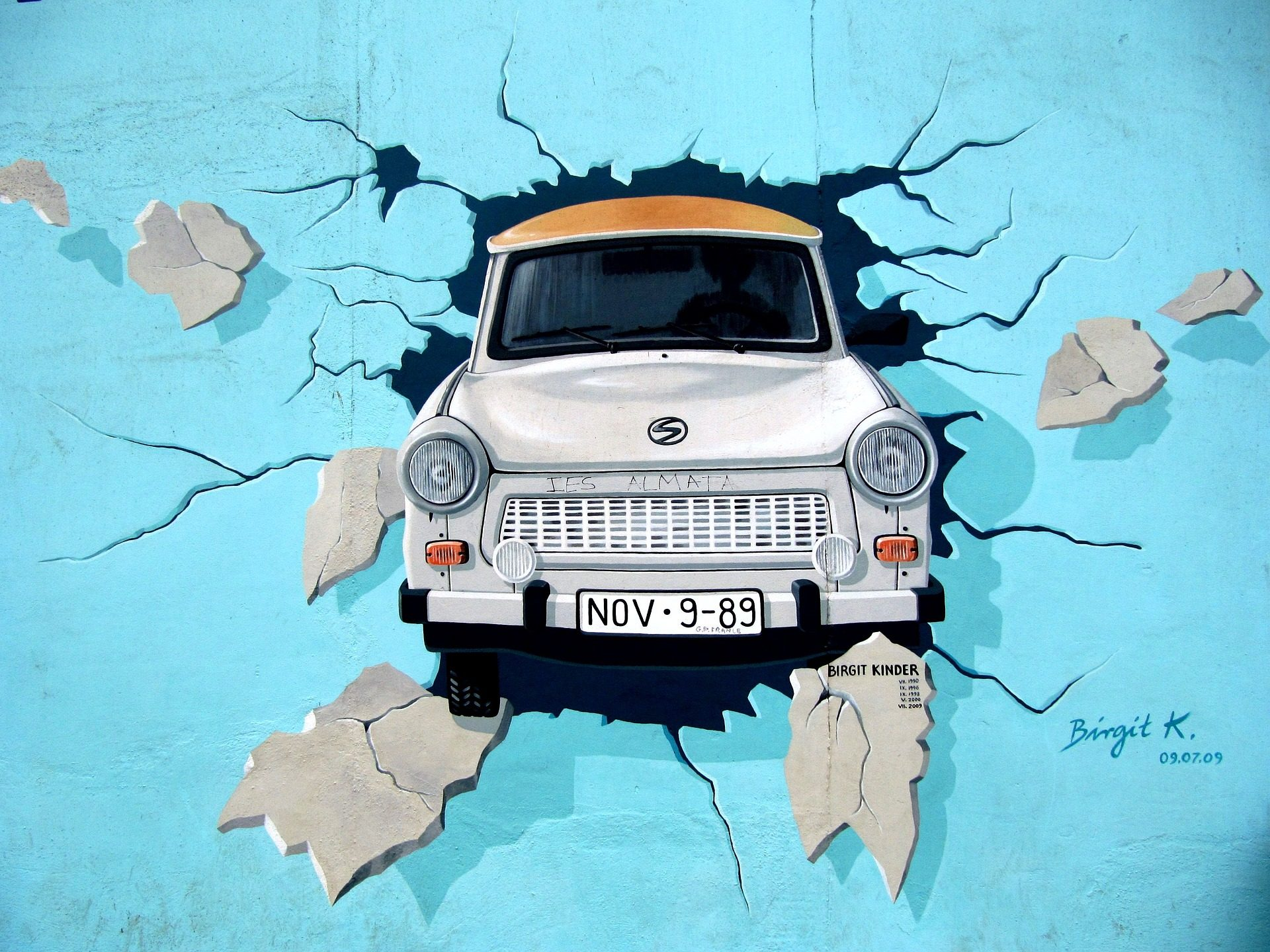 grafiti, muro, Berlino, auto, pParete- Sfondi HD - Professor-falken.com