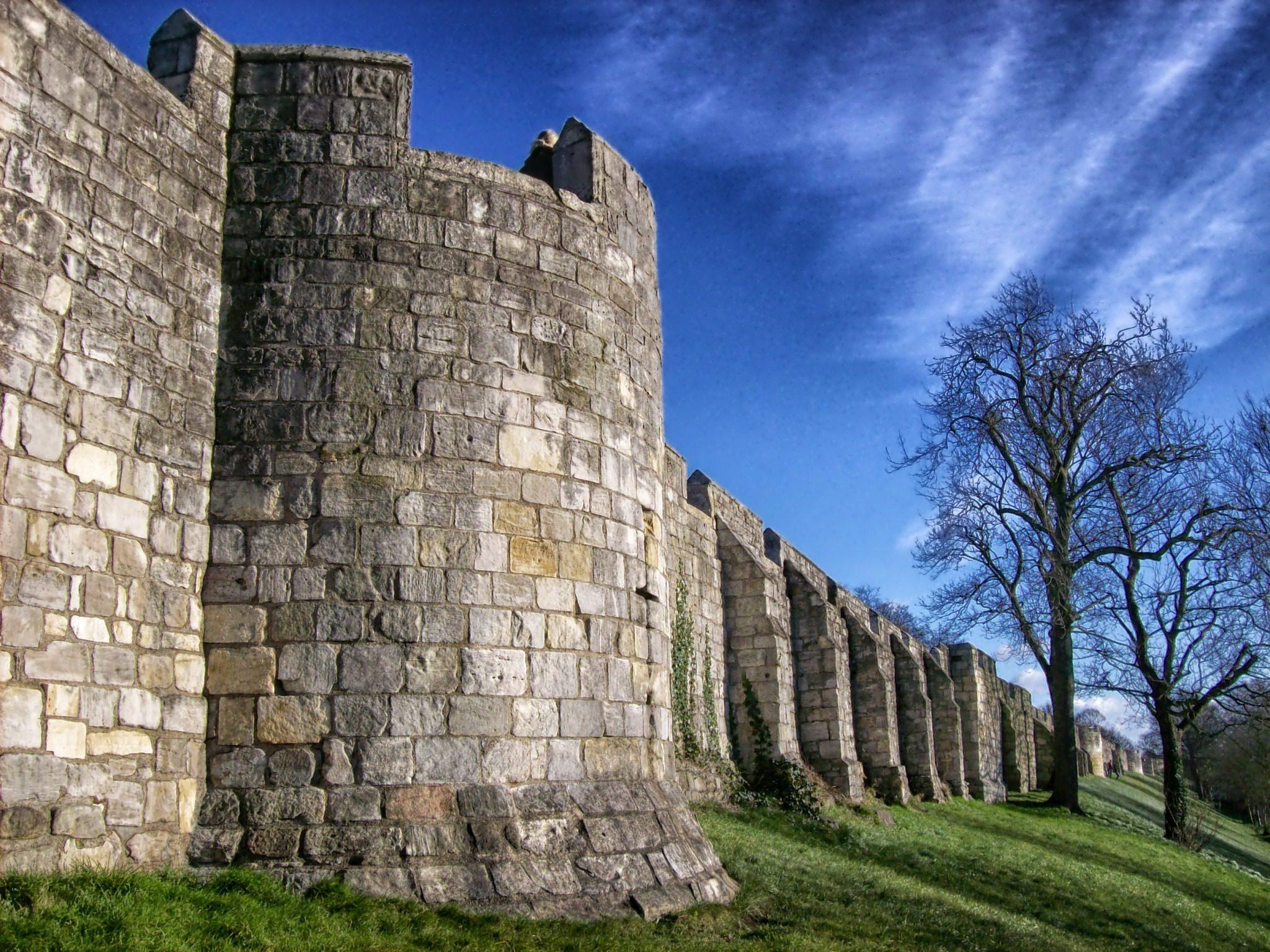墙上, 城市, 堡垒, york, 英格兰 - 高清壁纸 - 教授-falken.com