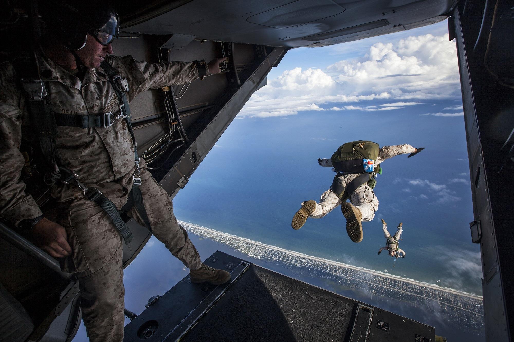parachute, sauter, Armée de terre, Air, risque - Fonds d'écran HD - Professor-falken.com