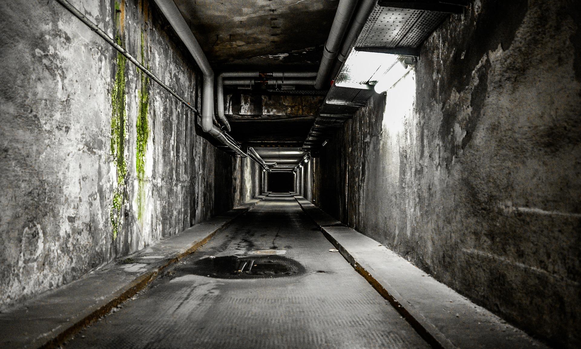 通路, トンネル, 冷静に, 恐怖, 暗闇の中 - HD の壁紙 - 教授-falken.com