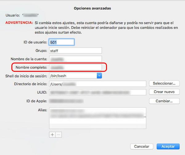 Cómo cambiar el nombre de una cuenta de usuario en tu Mac - Image 5 - professor-falken.com