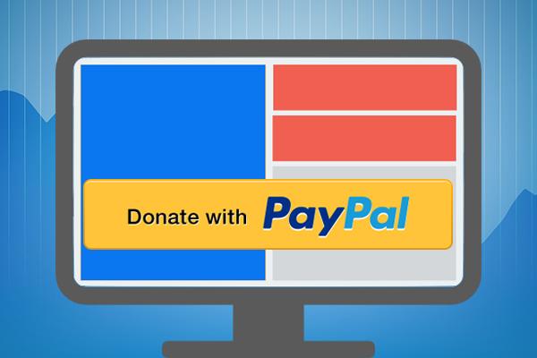 कैसे अपने वेब में एक बटन पेपैल के द्वारा दान की जगह